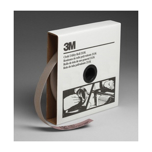3M™ 051144-05005 Utility Cloth Roll, 1 in W x 50 yd L, 220 Grit, Very Fine Grade, Aluminum Oxide Abrasive, Cloth Backing