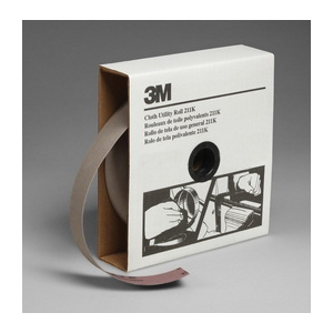 3M™ 051144-05025 Utility Closed Coated Abrasive Roll, 50 yd L x 1-1/2 in W, 220 Grit, Very Fine Grade, Aluminum Oxide Abrasive, Cloth Backing