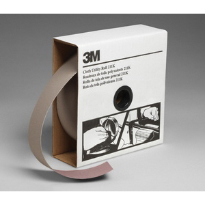 3M™ 051144-05047 211K Utility Closed Coated Abrasive Roll, 50 yd L x 2 in W, 150 Grit, Very Fine Grade, Aluminum Oxide Abrasive, Cloth Backing