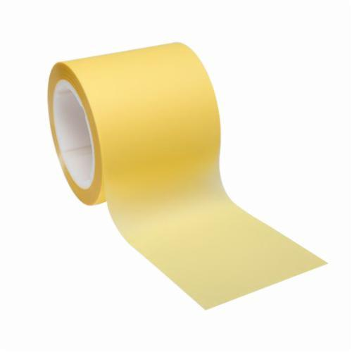 3M™ 051144-14091 Plain Back Lapping Film Roll, 4 in W x 150 ft L, 12 u Grit, Super Fine Grade, Aluminum Oxide Abrasive, Yellow