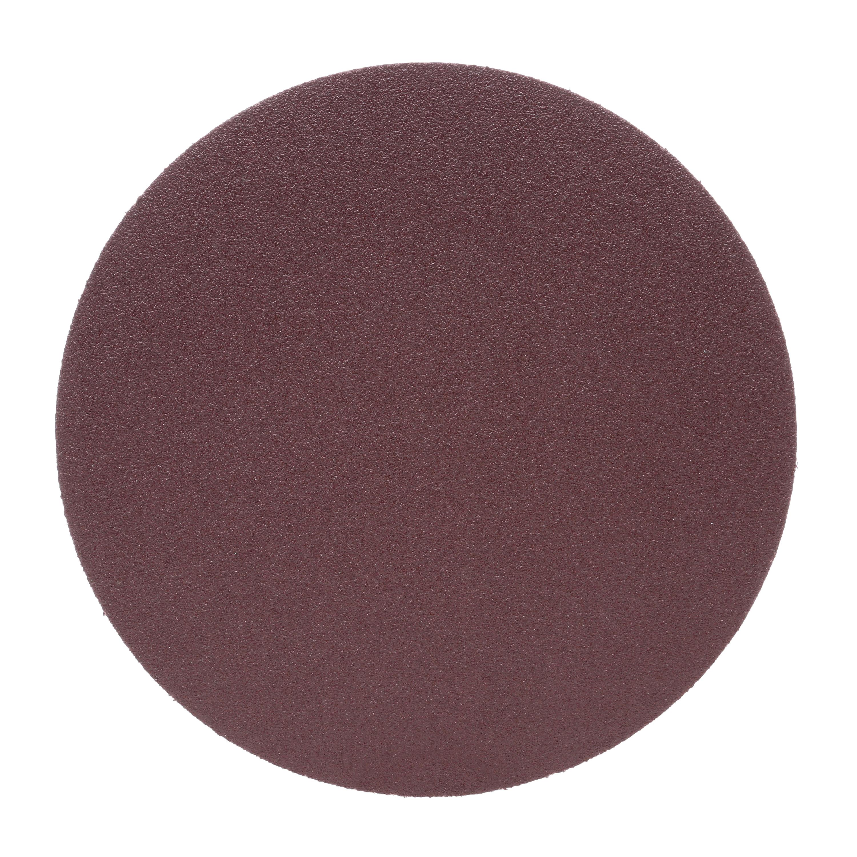 3M™ 051144-20870 348D Heavy Duty PSA Carbide Burr, 8 in Dia Disc, 80 Grit, Medium Grade, Aluminum Oxide Abrasive, Cloth Backing