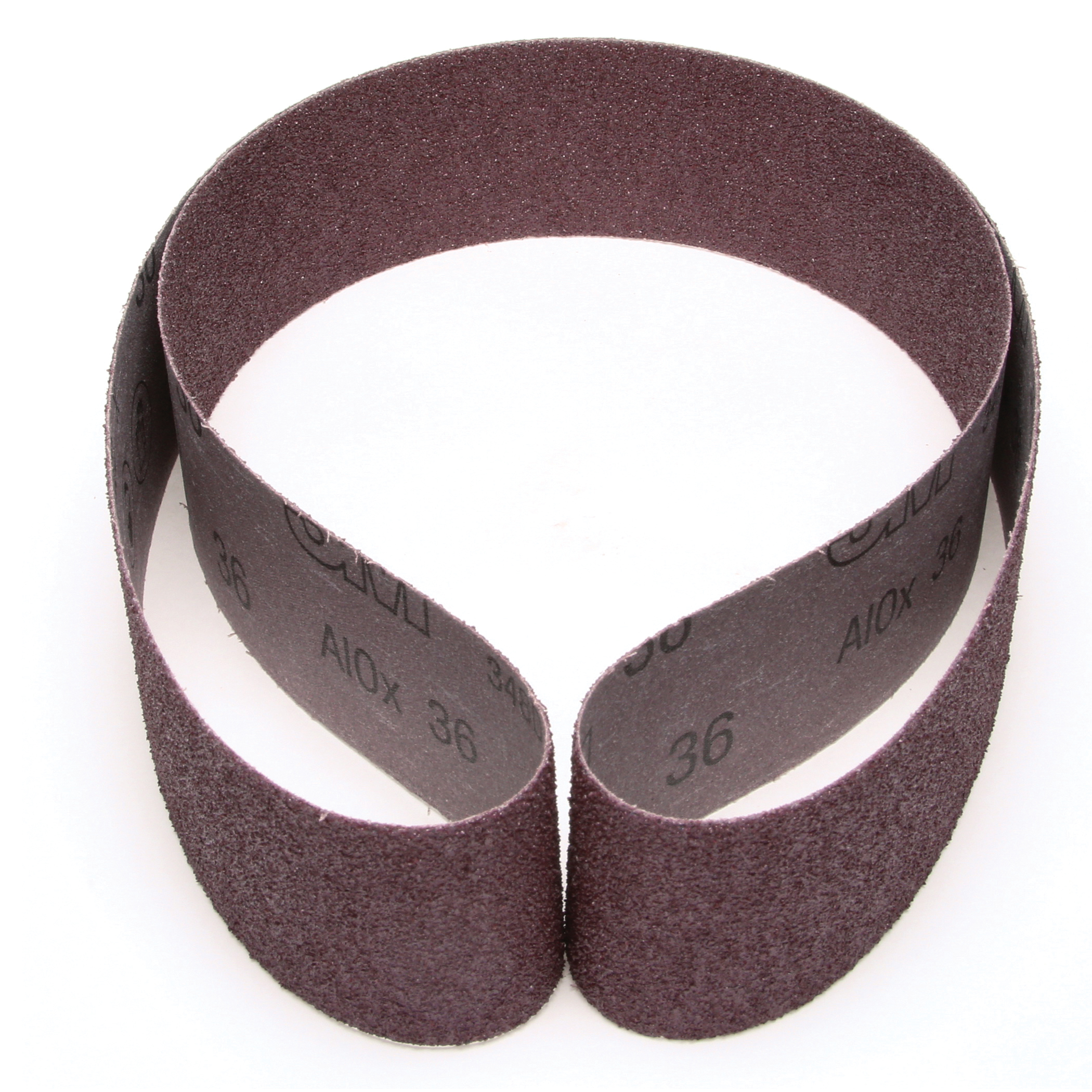 3M™ 051144-26408 Narrow Coated Abrasive Belt, 2-1/2 in W x 60 in L, 36 Grit, Very Coarse Grade, Aluminum Oxide Abrasive, Cloth Backing