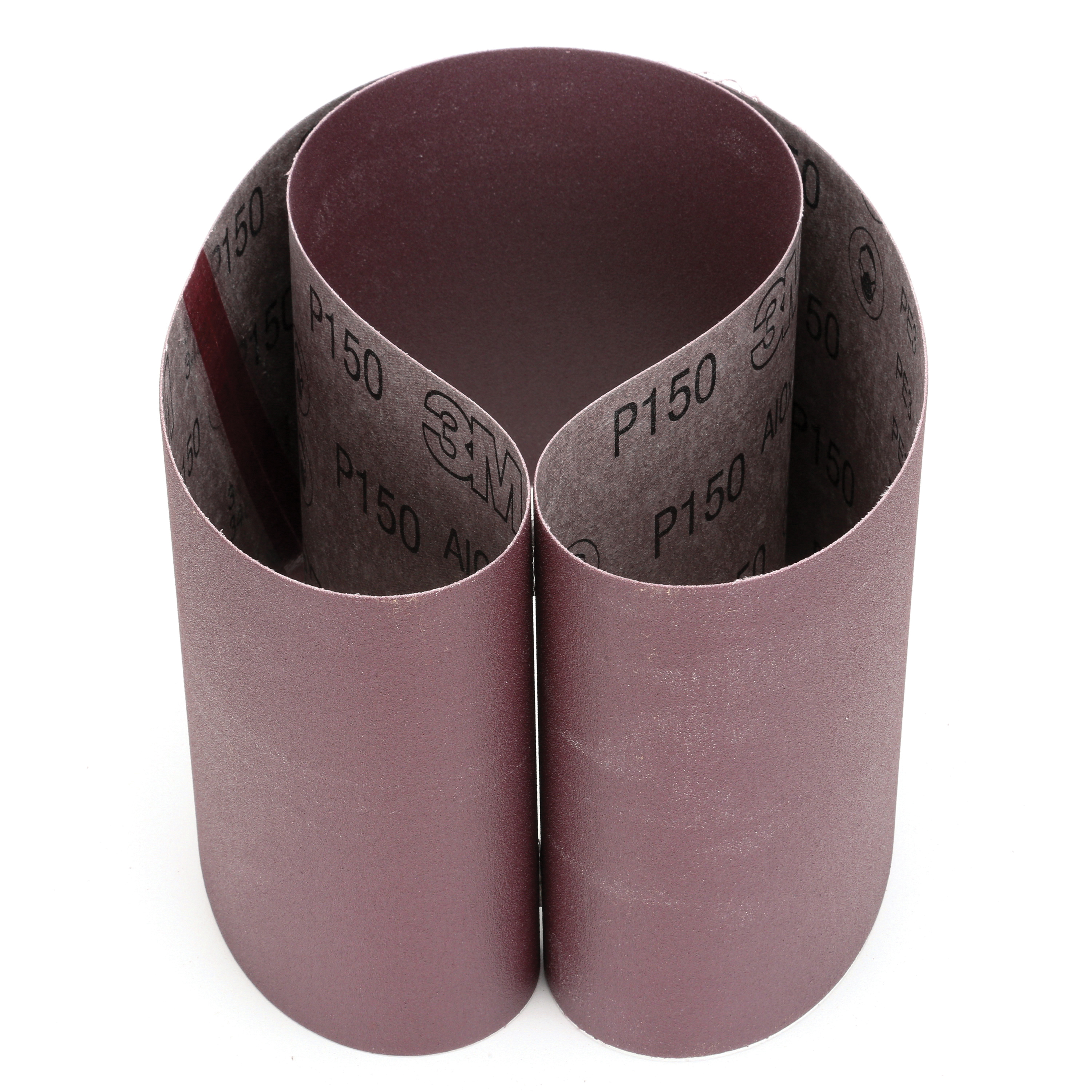 3M™ 051144-26517 Narrow Coated Abrasive Belt, 6 in W x 48 in L, P150 Grit, Very Fine Grade, Aluminum Oxide Abrasive, Cloth Backing