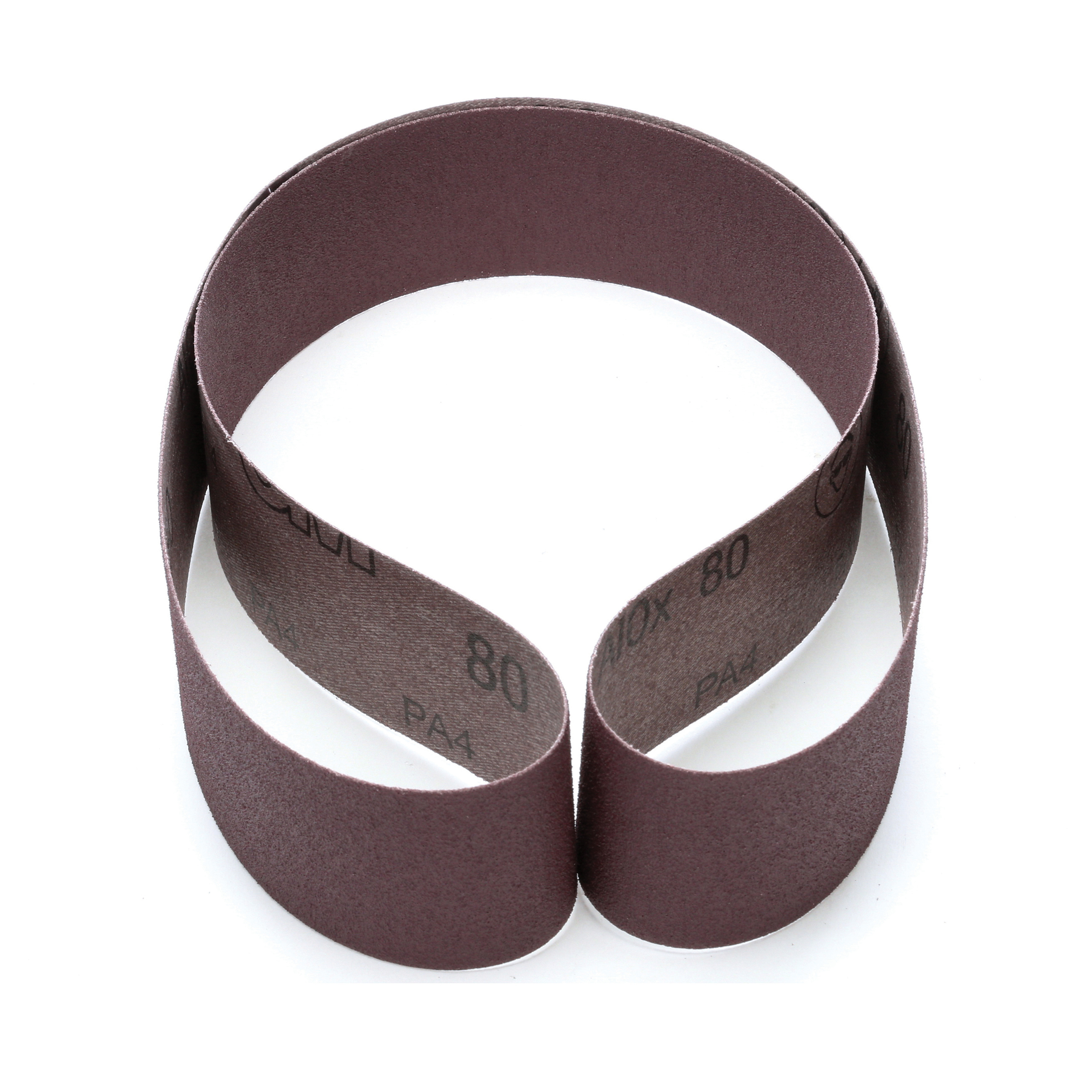 3M™ 051144-26562 Narrow Coated Abrasive Belt, 2 in W x 48 in L, 80 Grit, Medium Grade, Aluminum Oxide Abrasive, Cloth Backing