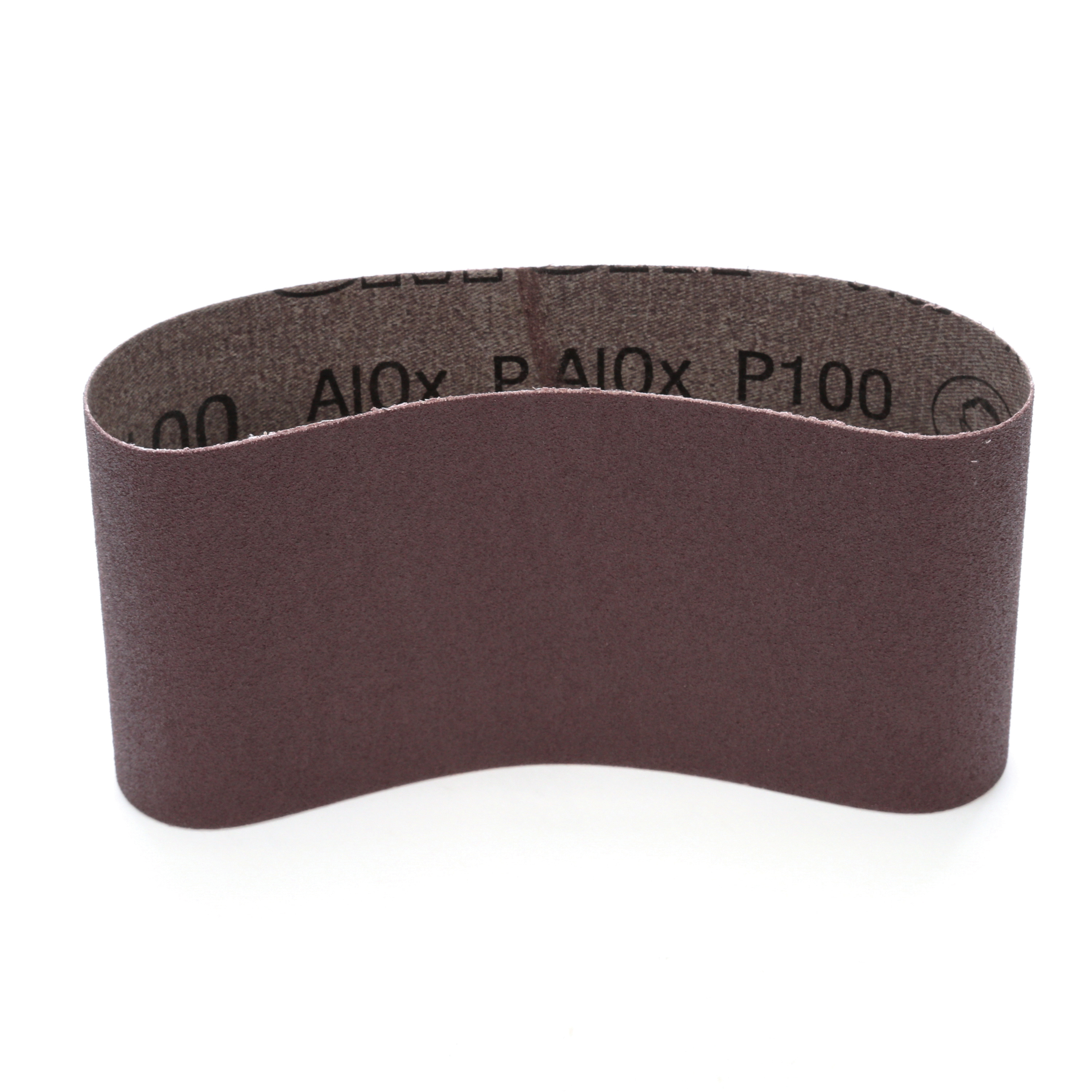 3M™ 051144-26853 341D Portable Abrasive Belt, 3-1/2 in W x 15-1/2 in L, P100 Grit, Fine Grade, Aluminum Oxide Abrasive, Cloth Backing