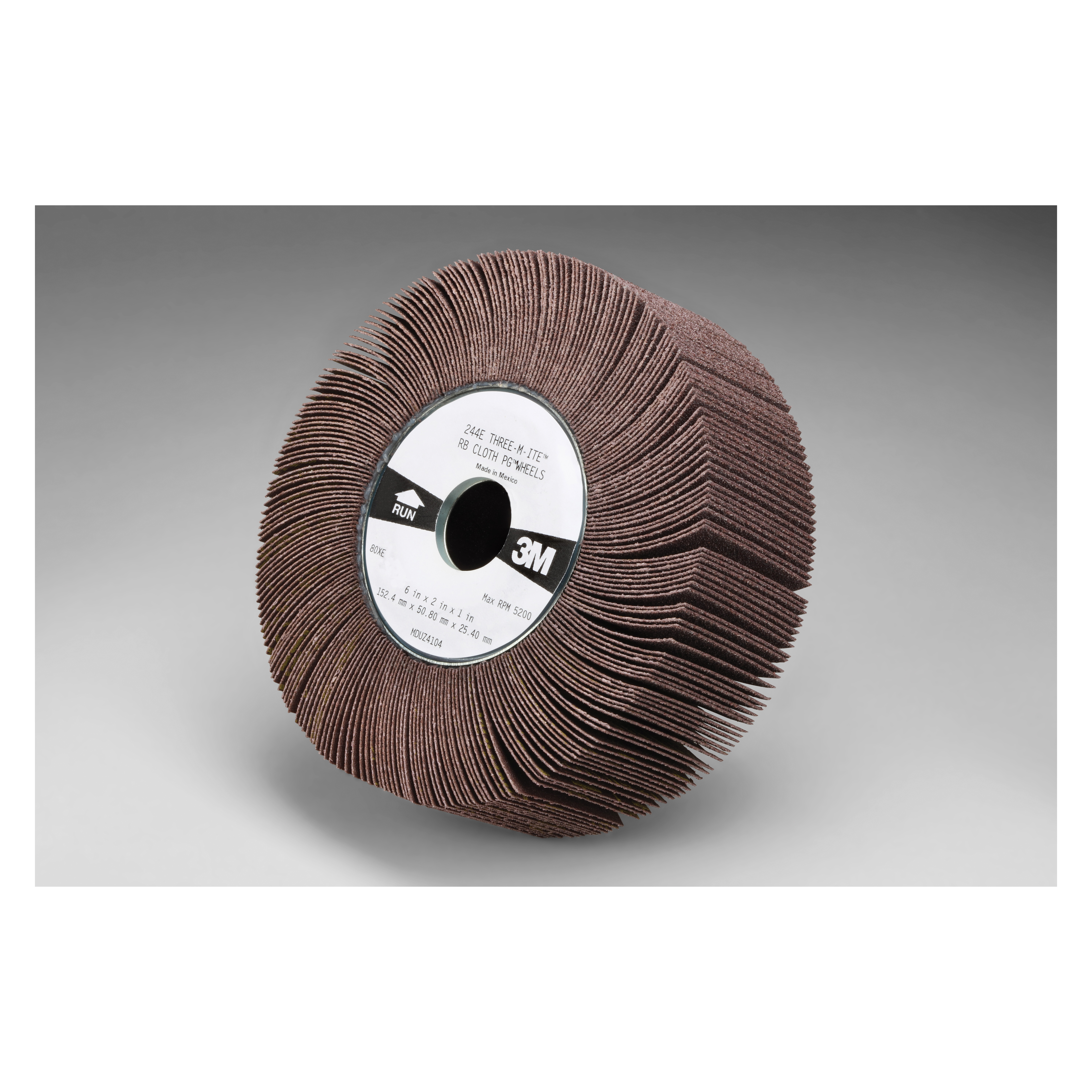 3M™ 051144-35088 Unmounted Coated Flap Wheel, 6 in Dia, 2 in W Face, 60 Grit, Medium Grade, Aluminum Oxide Abrasive