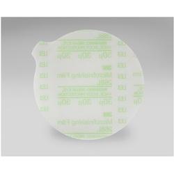3M™ 051111-50000 268L Type D Microfinishing PSA Carbide Burr, 10 in Dia Disc, 30 micron Grit, Extra Fine Grade, Aluminum Oxide Abrasive, Polyester Film Backing