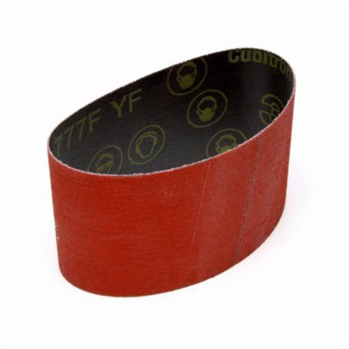 3M™ 051144-76534 Narrow Coated Abrasive Belt, 4 in W x 132 in L, 36 Grit, Ceramic Aluminum Oxide Abrasive, Polyester Backing