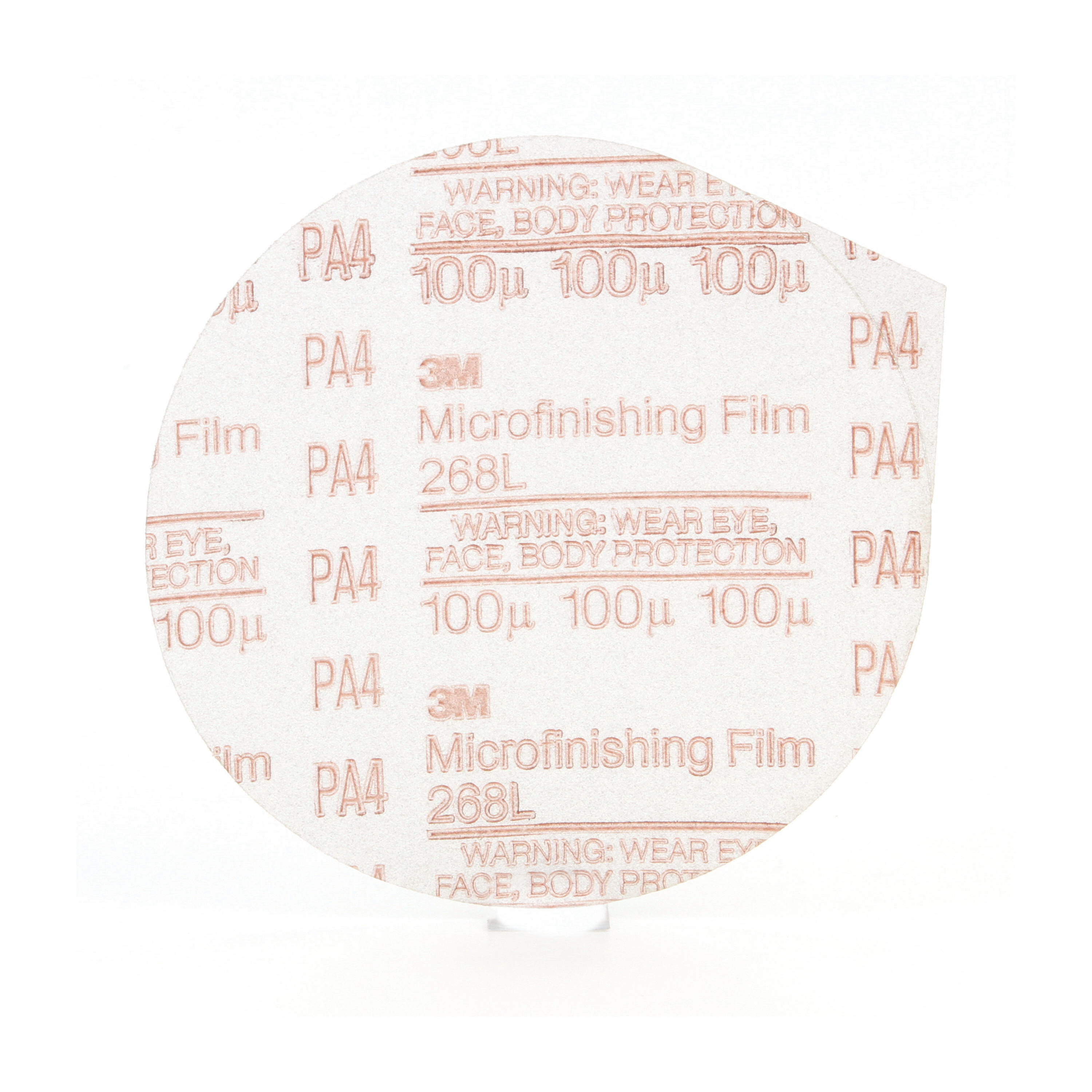 3M™ 051144-80205 Type D Microfinishing PSA Coated Abrasive Disc, 5 in Dia, 100 micron Grit, Very Fine Grade, Aluminum Oxide Abrasive, Polyester Film Backing