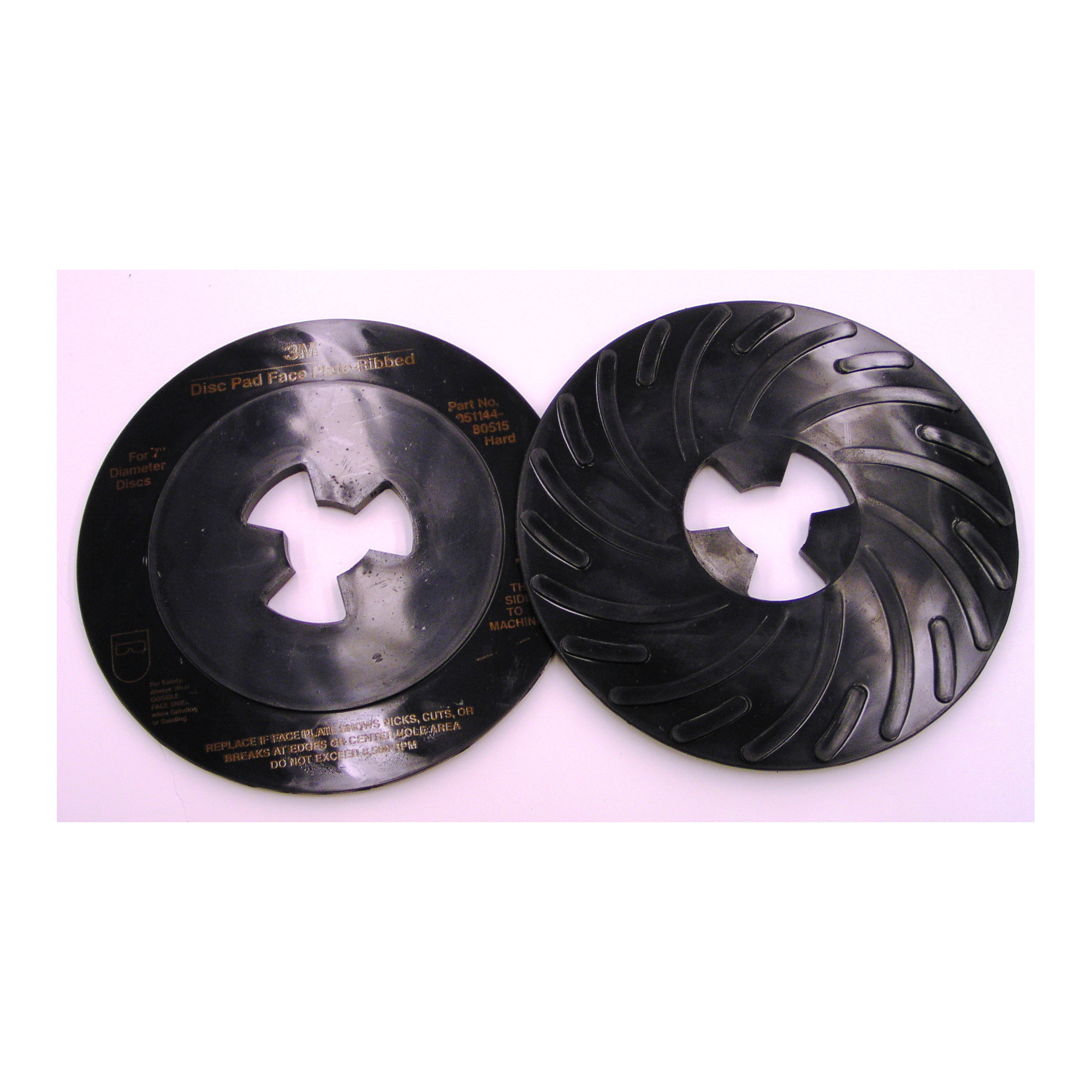 3M™ 051144-80515 Hard Density Ribbed Disc Pad Face Plate, 7 in, For Use With 3M™ Disc Pad Hub, Right Angle Grinder and Rotary Sander