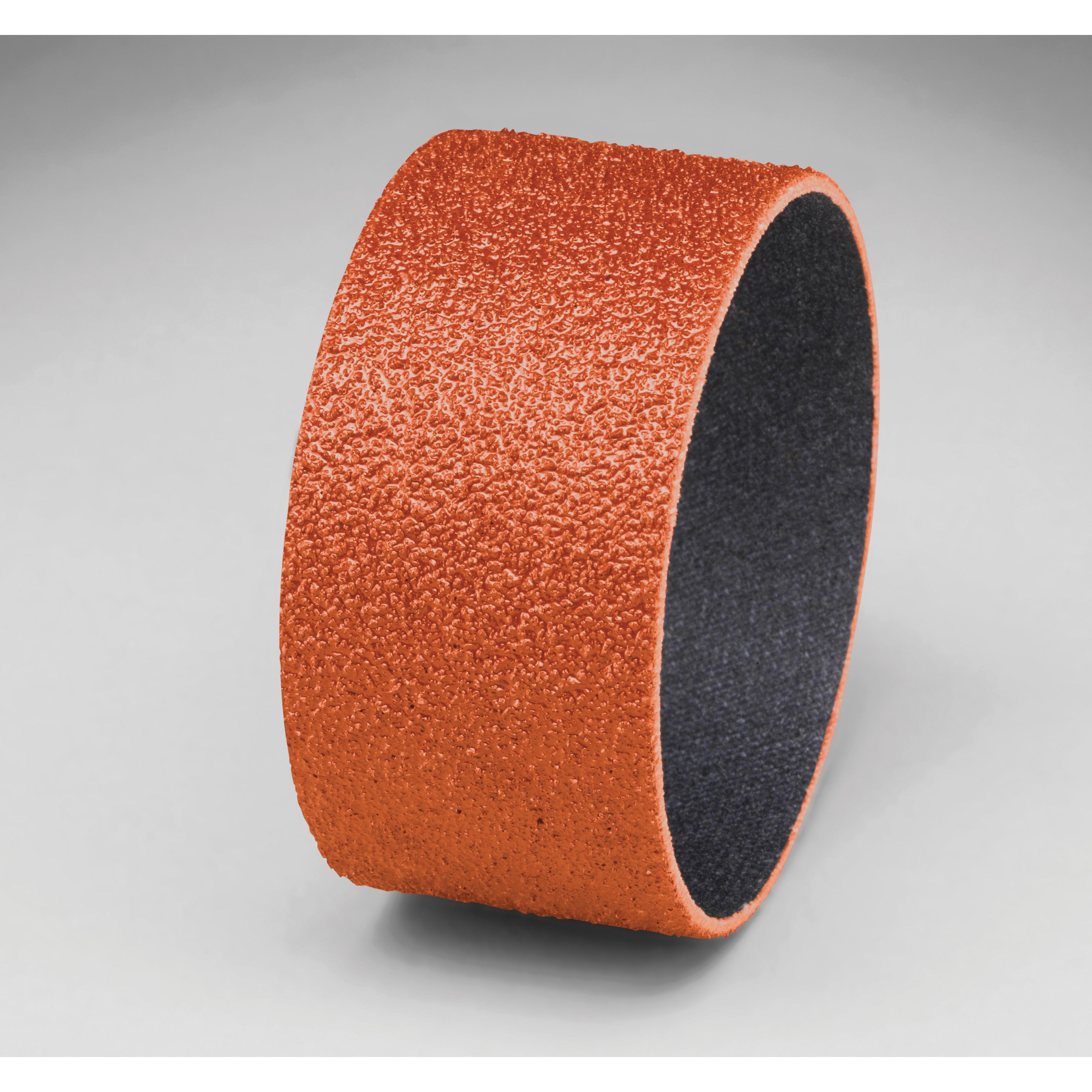 3M™ 051144-80771 Closed Coat Spiral Band, 2 in Dia x 1 in L, 60 Grit, Medium Grade, Ceramic Abrasive