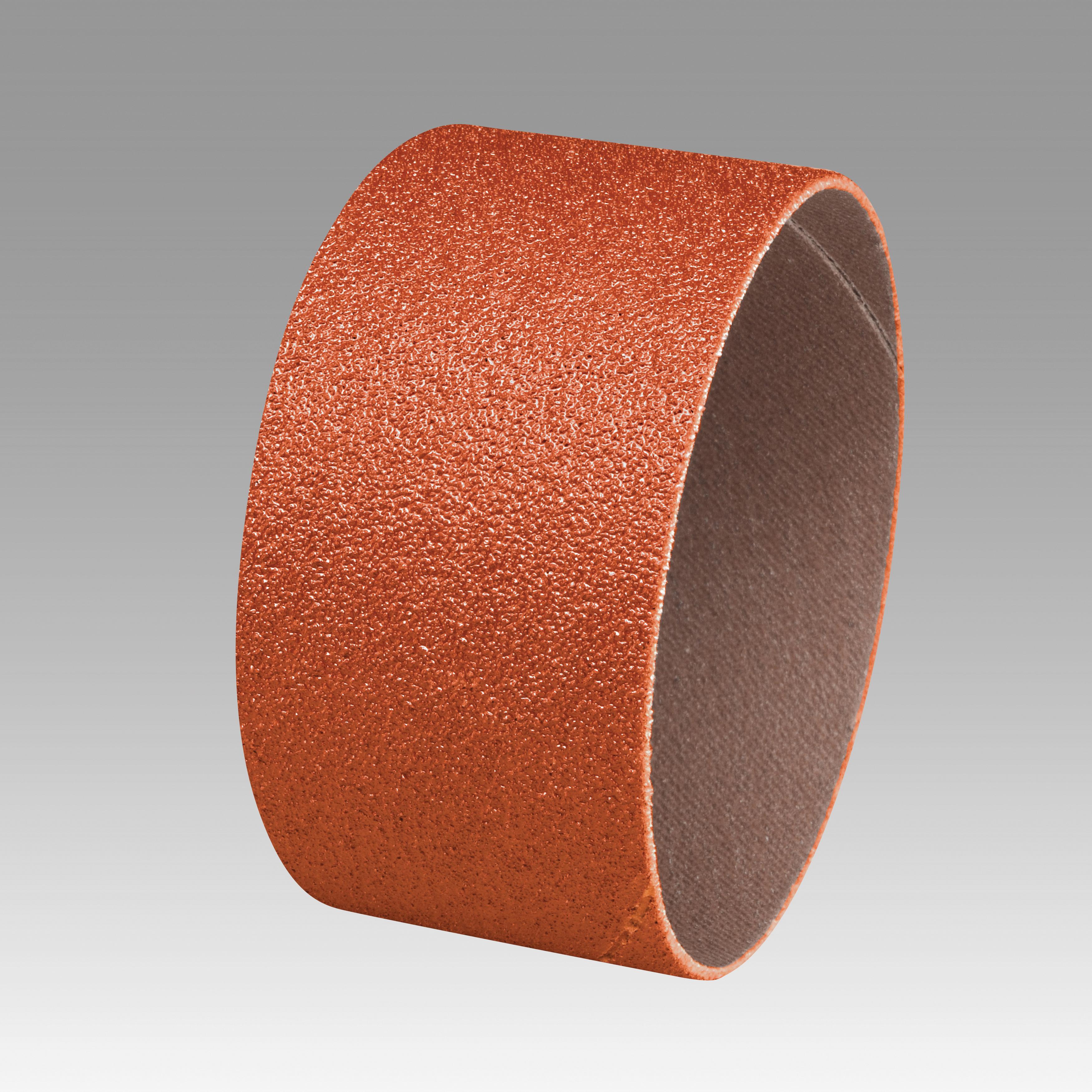 3M™ 051144-80772 Closed Coat Spiral Band, 3 in Dia x 1 in L, 60 Grit, Medium Grade, Ceramic Abrasive