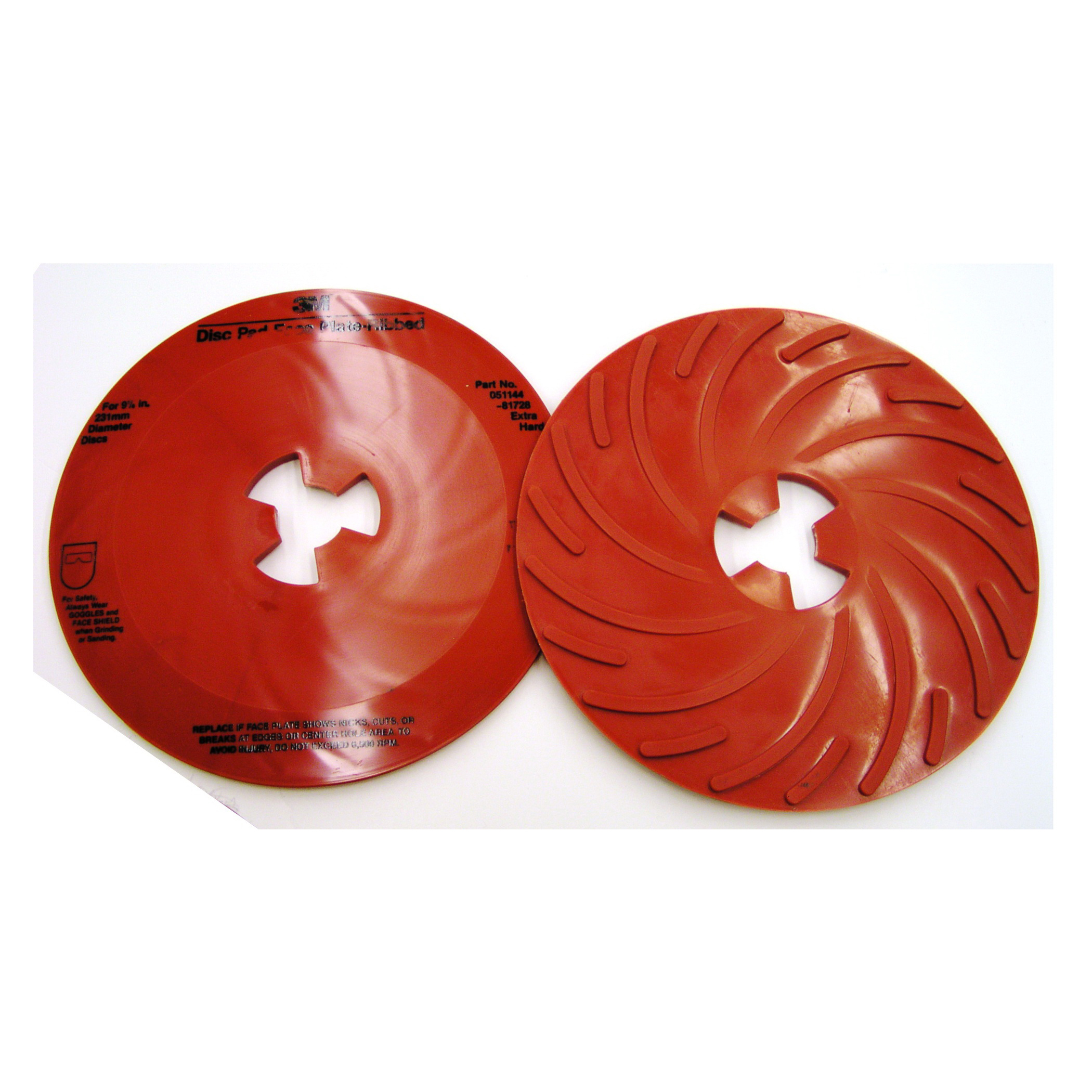 3M™ 051144-81728 Extra Hard Density Ribbed Disc Pad Face Plate, 9 in, For Use With 3M™ Disc Pad Hub, Right Angle Grinder and Rotary Sander