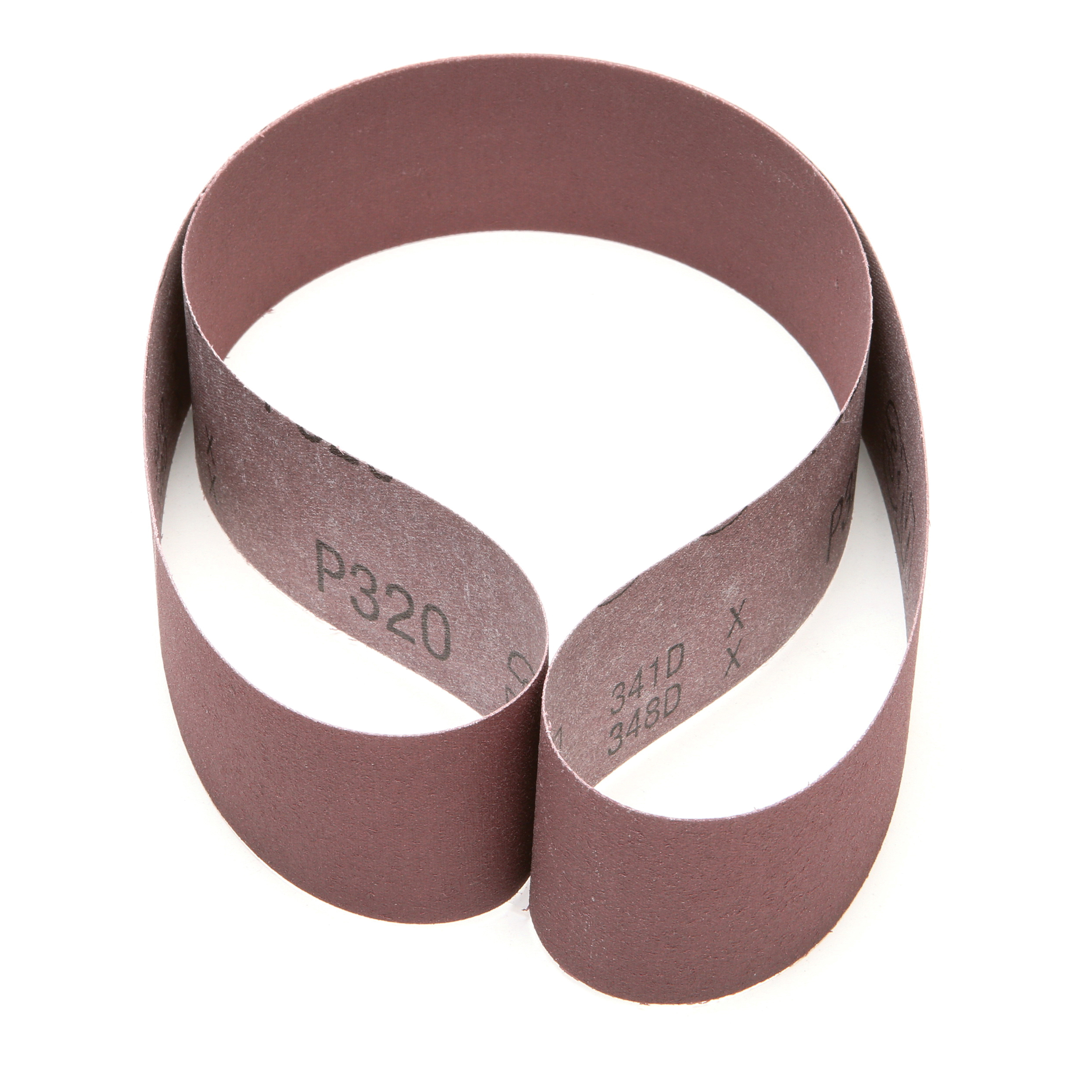 3M™ 051144-85375 Narrow Coated Abrasive Belt, 2 in W x 48 in L, P320 Grit, Very Fine Grade, Aluminum Oxide Abrasive, Cloth Backing