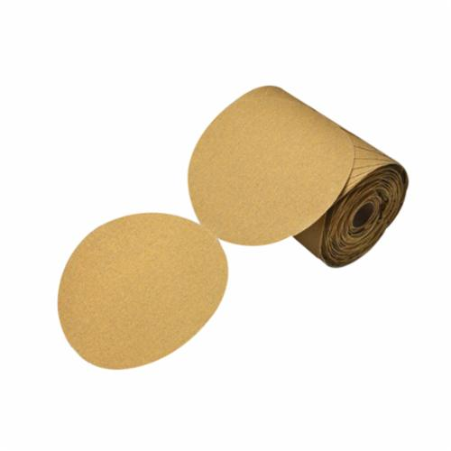 Stikit™ 051144-86471 Open Coated PSA Abrasive Disc Roll, 6 in Dia, P150 Grit, Aluminum Oxide Abrasive, Paper Backing