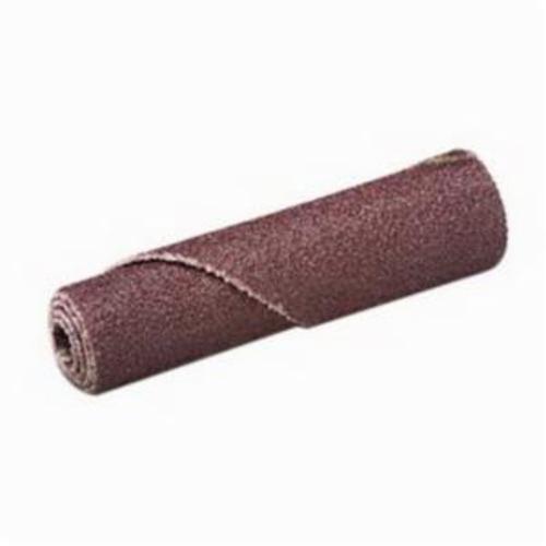 3M™ 051144-97106 341D Coated Regular Straight Coated Cartridge Roll, 5/8 in Dia x 1-1/2 in OAL, 1/8 in Dia Pilot Hole, 80 Grit, Aluminum Oxide Abrasive
