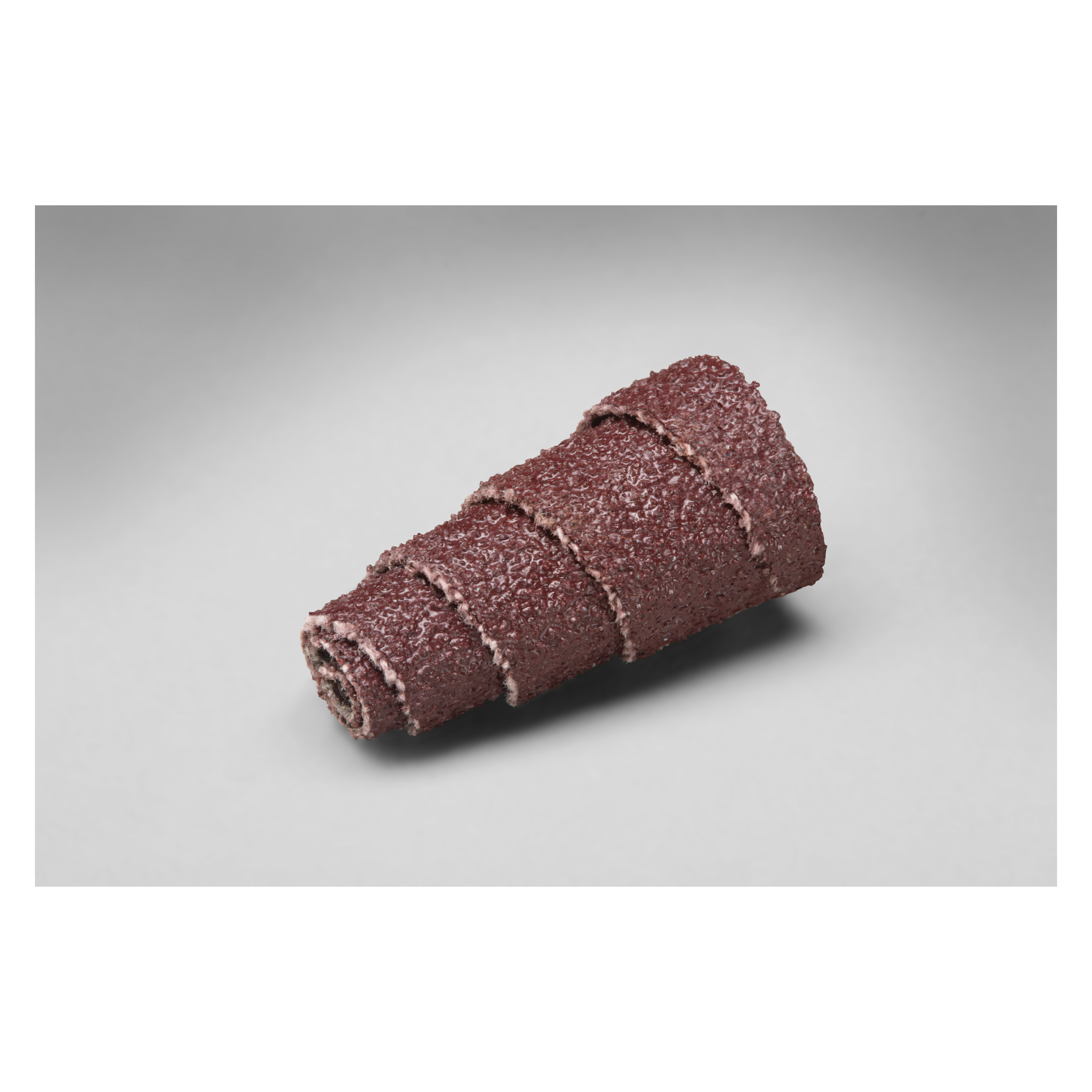 3M™ 051144-97257 341D Coated Full Tapered Coated Cartridge Roll, 1/2 in Dia x 1 in OAL, 1/8 in Dia Pilot Hole, 60 Grit, Aluminum Oxide Abrasive