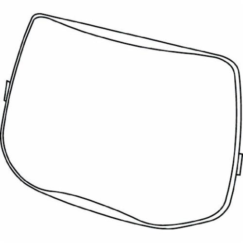 Speedglas™ 051135-89361 Replacement Outside Protection Plate, Clear, Polycarbonate, 6 in H x 3-7/8 in W