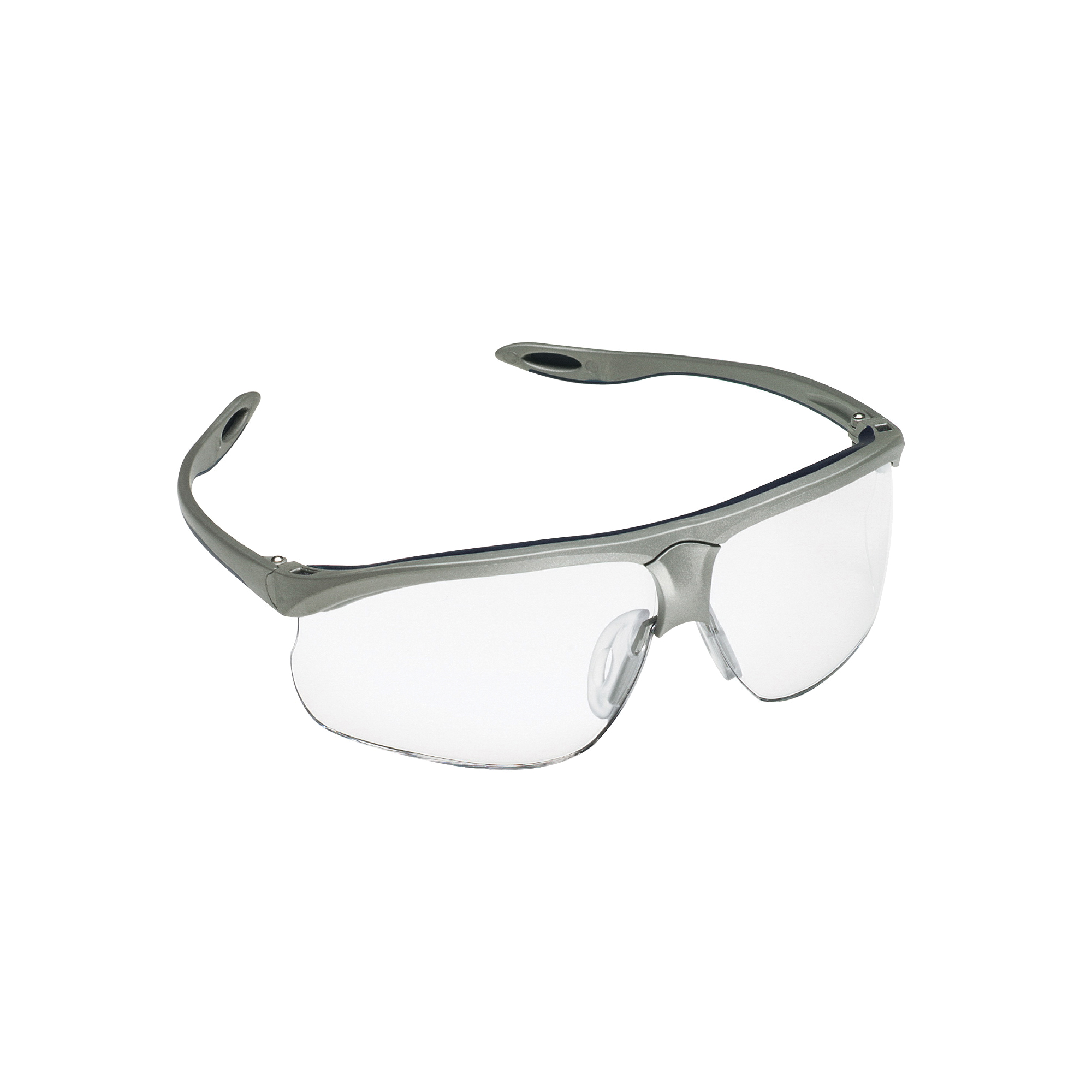 3M™ Maxim™ 078371-62245 13274-10000-20 Sport Sport Value Range Protective Glasses, Anti-Fog/Scratch Resistant Clear Lens, Half Framed Blue/Silver Plastic Frame, Polycarbonate Lens, Specifications Met: ANSI Z87.1, CSA Z94.3