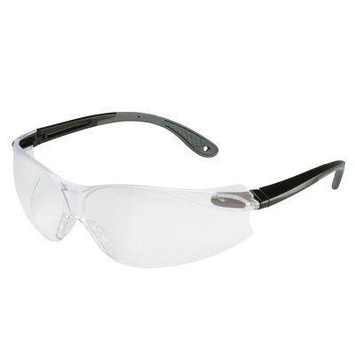 3M™ Virtua™ 078371-62034 V4 Economy Protective Eyewear, Anti-Scratch Clear Lens, Frameless Black/Gray Plastic Frame, Polycarbonate Lens, Specifications Met: ANSI Z87.1-2015