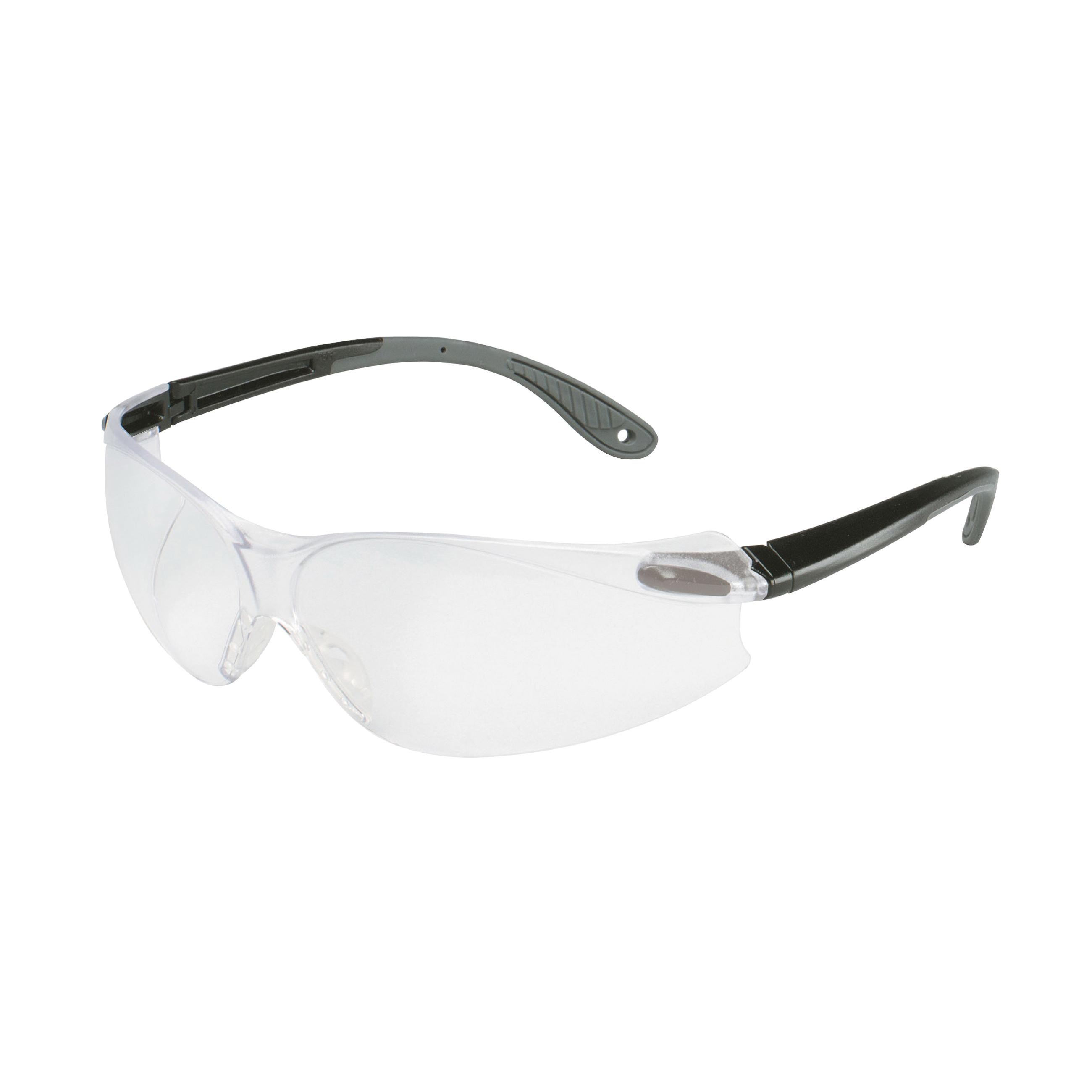 3M™ Virtua™ 078371-62036 11672-00000-20 V4 Economy Protective Eyewear, Anti-Fog Clear Lens, Frameless/Wraparound Black/Gray Polycarbonate Frame, Polycarbonate Lens, Specifications Met: ANSI Z87.1-2015