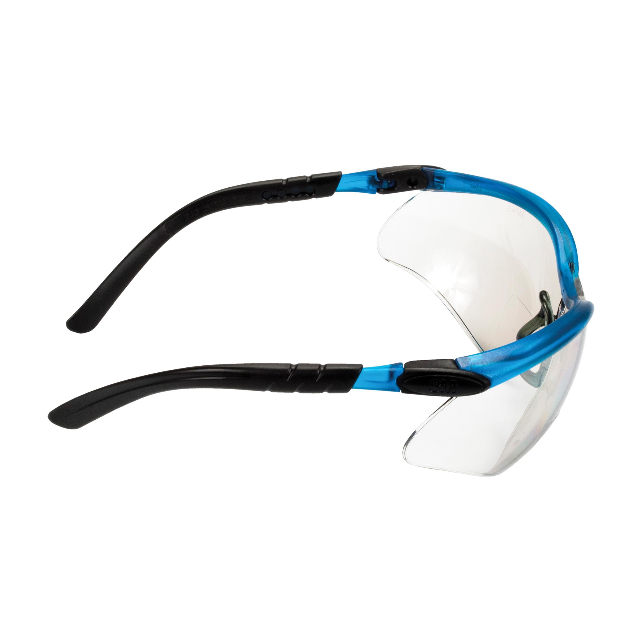3M™ BX™ 078371-62046 Bi-Focal Lens Lightweight Reader Protective Eyewear, 1.5 Diopter, Clear Lens, Black/Silver, Plastic Frame, Polycarbonate Lens, 99.9 % UV Protection, ANSI Z87.1-2015, CSA Z94.3-2007