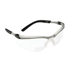 3M™ BX™ 078371-62047 11375-00000-20 Bi-Focal Lens Lightweight Reader Protective Eyewear, 2 Diopter, Clear Lens, Black/Silver Plastic Frame, Polycarbonate Lens, 99.9% UV Protection, Specifications Met: ANSI Z87.1-2015, CSA Z94.3-2007