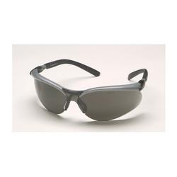 3M™ BX™ 078371-62053 Value Range Safety Glasses, Anti-Fog, Gray Lens, Half Framed Frame, Black/Silver, Plastic Frame, Polycarbonate Lens, ANSI Z87.1, CSA Z94.3-2007