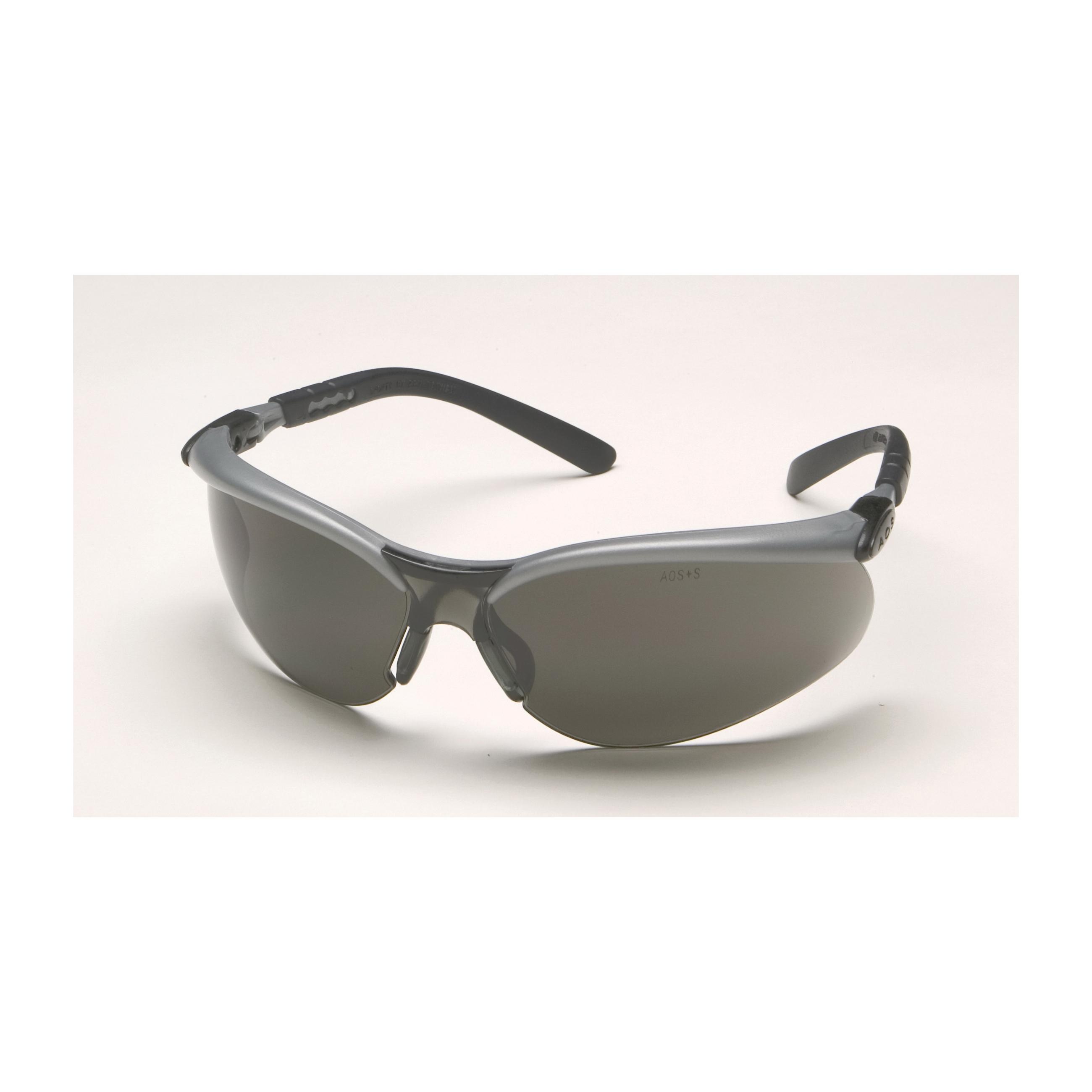 3M™ BX™ 078371-62053 11381-00000-20 Value Range Safety Glasses, Anti-Fog Gray Lens, Half Framed Black/Silver Plastic Frame, Polycarbonate Lens, Specifications Met: ANSI Z87.1, CSA Z94.3-2007