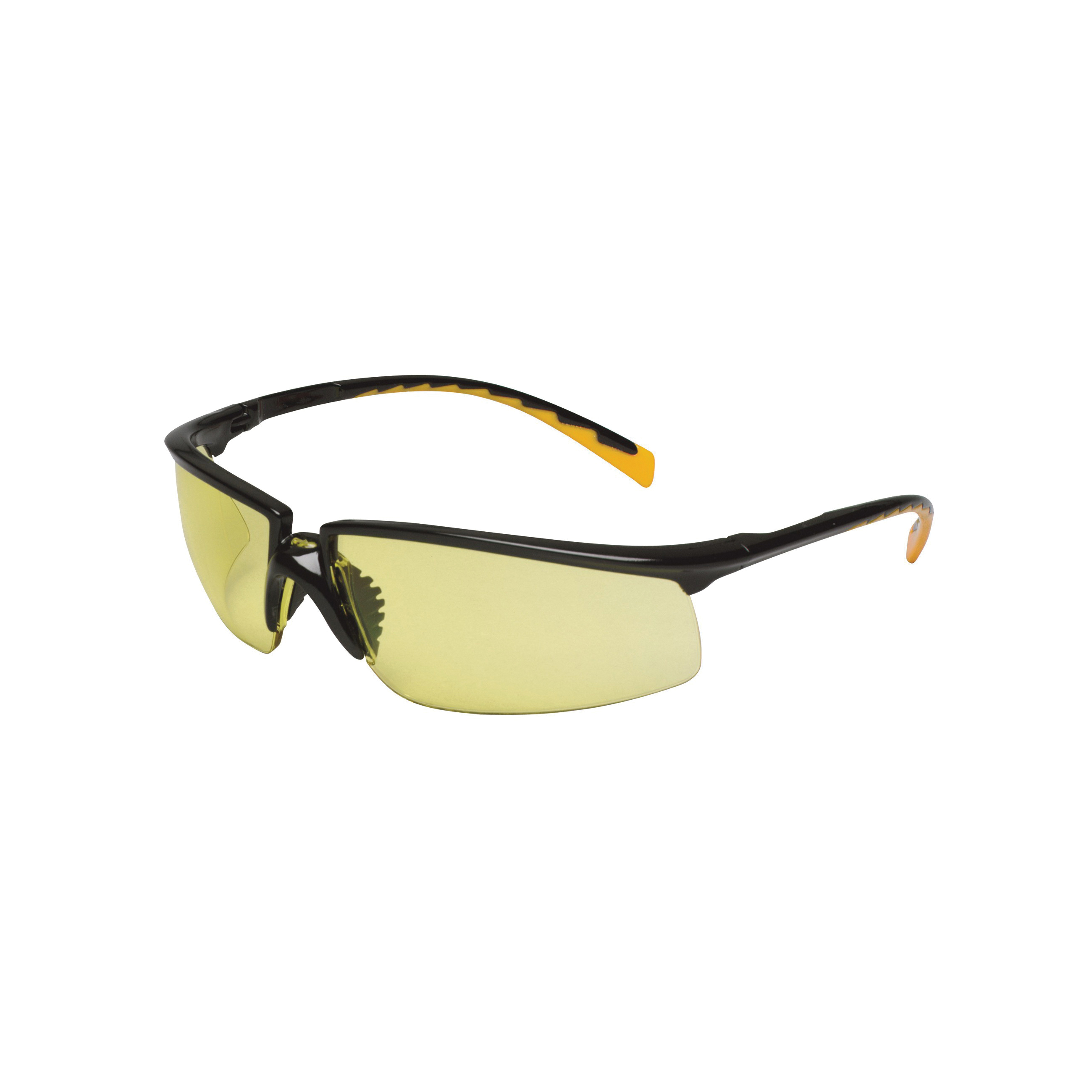 3M™ Privo™ 078371-62089 12263-00000-20 Value Range Protective Eyewear, Anti-Fog Amber Lens, Half Framed Black Plastic Frame, Polycarbonate Lens, Specifications Met: ANSI Z87.1-2003, CSA Z94.3-2007