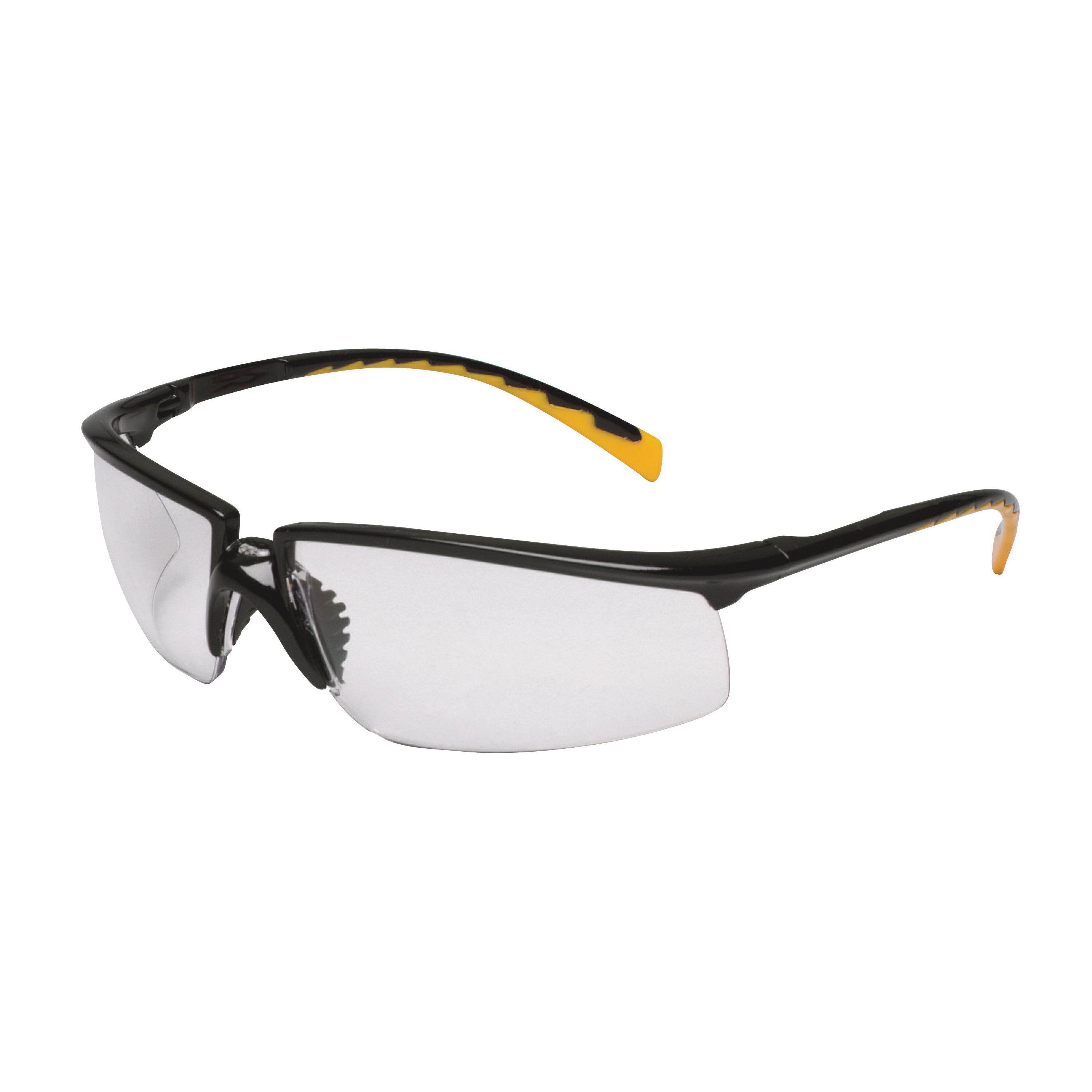 3M™ Privo™ 078371-62090 12264-00000-20 Value Range Protective Eyewear, Anti-Fog Indoor/Outdoor Mirror Lens, Half Framed Black Plastic Frame, Polycarbonate Lens, Specifications Met: ANSI Z87.1-2003, CSA Z94.3-2007