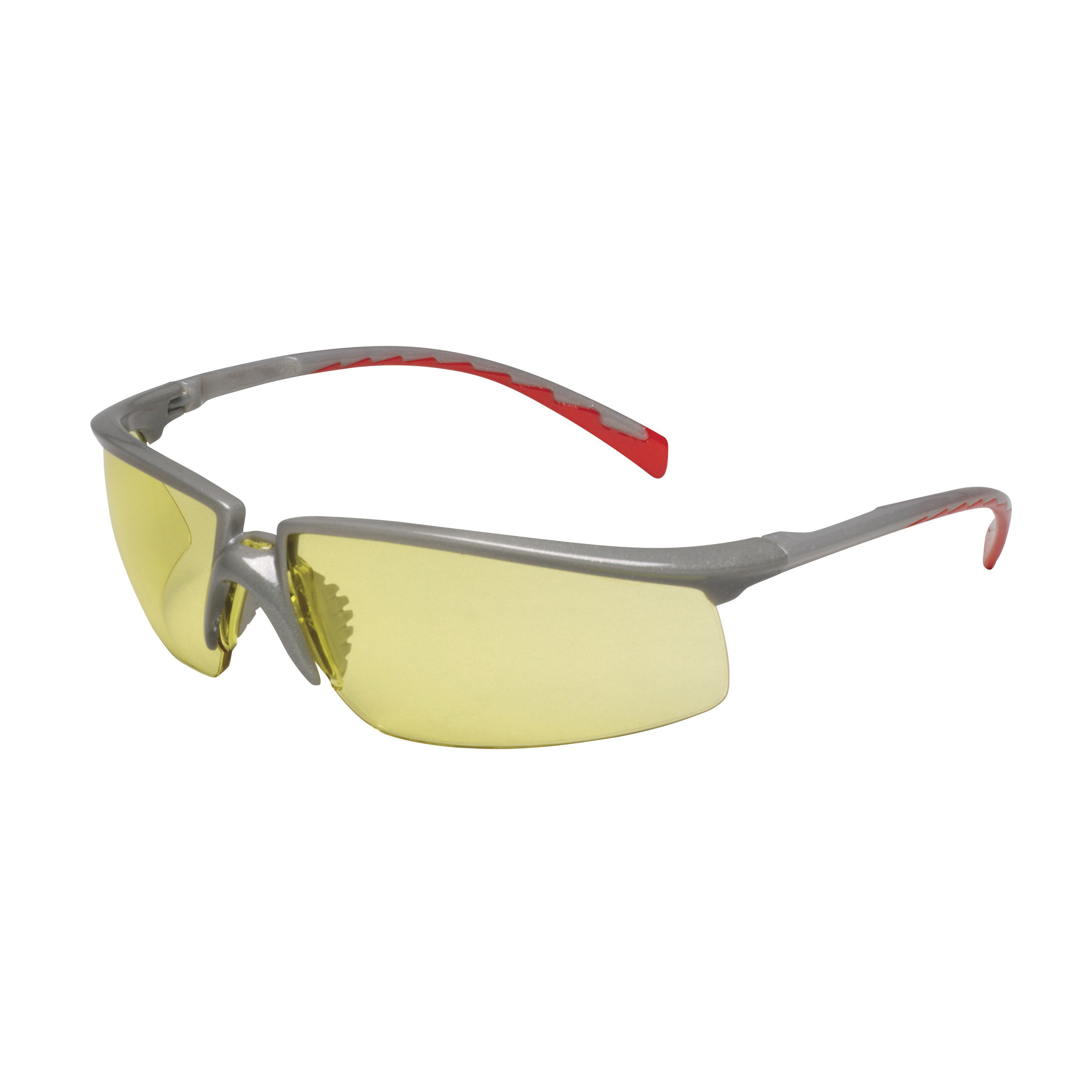 3M™ Privo™ 078371-62093 12267-00000-20 Value Range Safety Glasses, Anti-Fog Amber Lens, Half Framed Silver Plastic Frame, Polycarbonate Lens, Specifications Met: ANSI Z87.1-2003, CSA Z94.3-2007