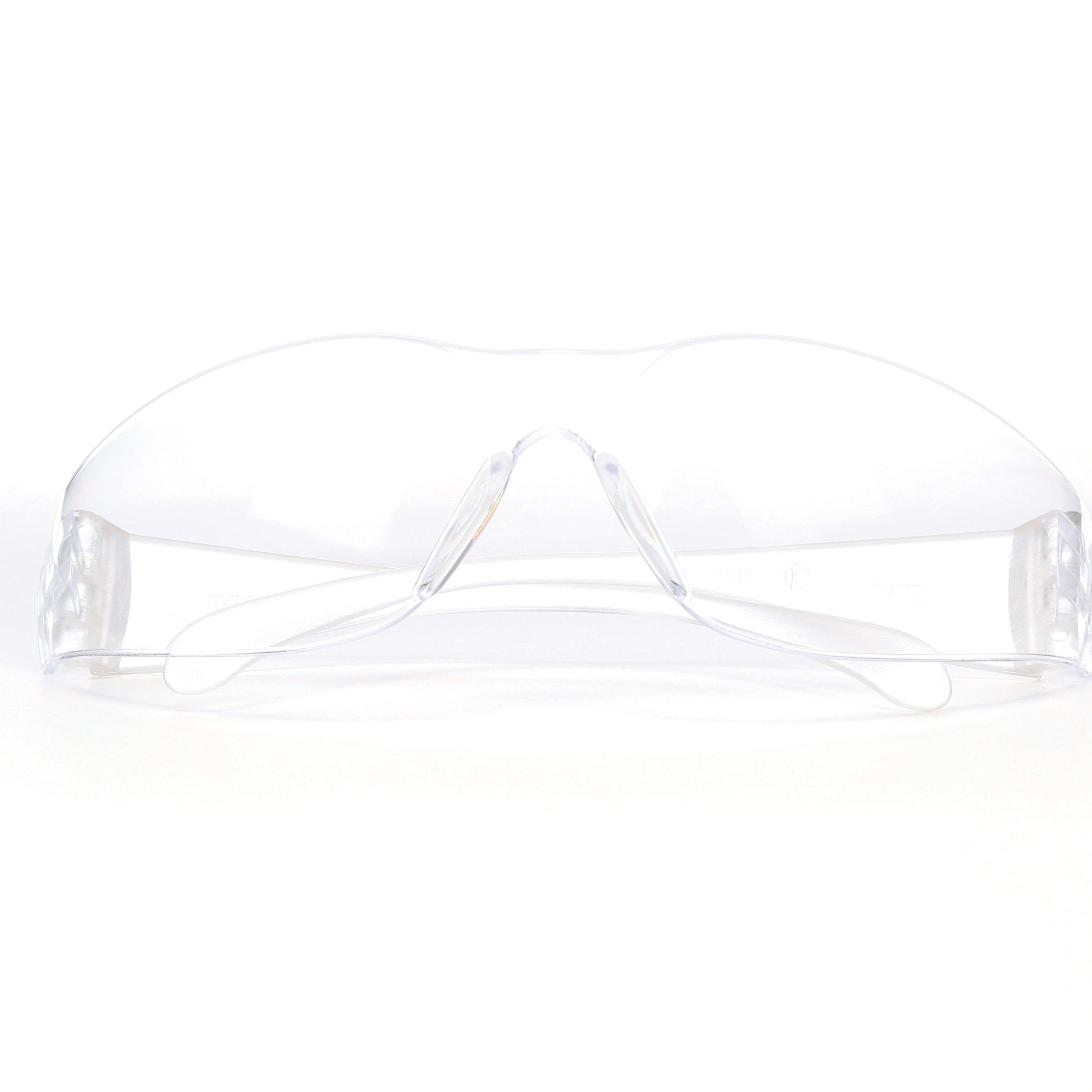 3M™ Virtua™ 078371-62099 Economy Lightweight Protective Eyewear, Anti-Scratch/Hard Coat, Clear Lens, Frameless/Wrap Around Frame, Clear, Polycarbonate Frame, Polycarbonate Lens, ANSI Z87.1-2015