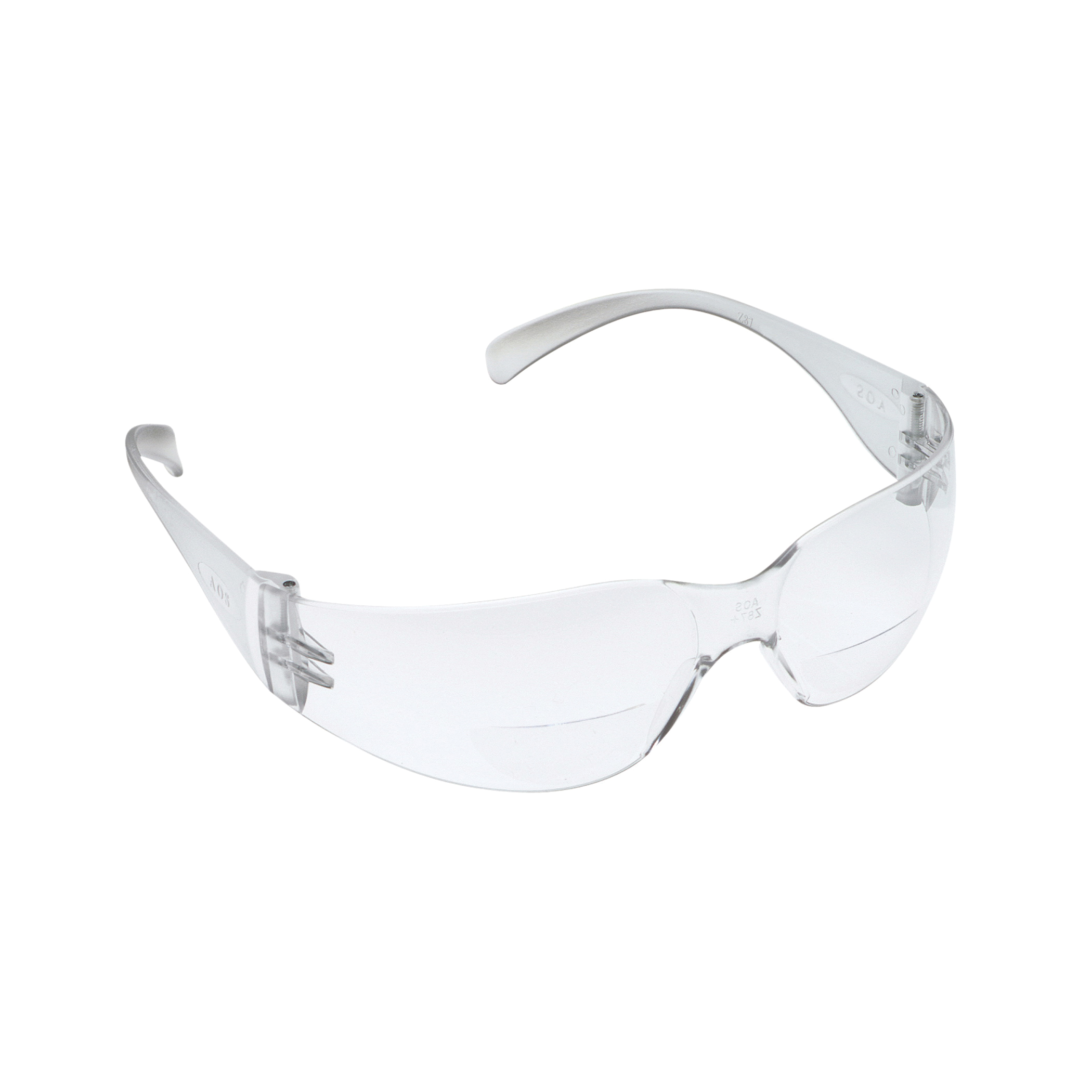 3M™ Aearo Virtua™ 078371-62120 11514-00000-20 Bi-Focal Lens Economy Lightweight Reader Protective Eyewear, 2 Diopter, Clear Lens, Clear Plastic Frame, Polycarbonate Lens, 99.9% UV Protection, Specifications Met: ANSI Z87.1-2015