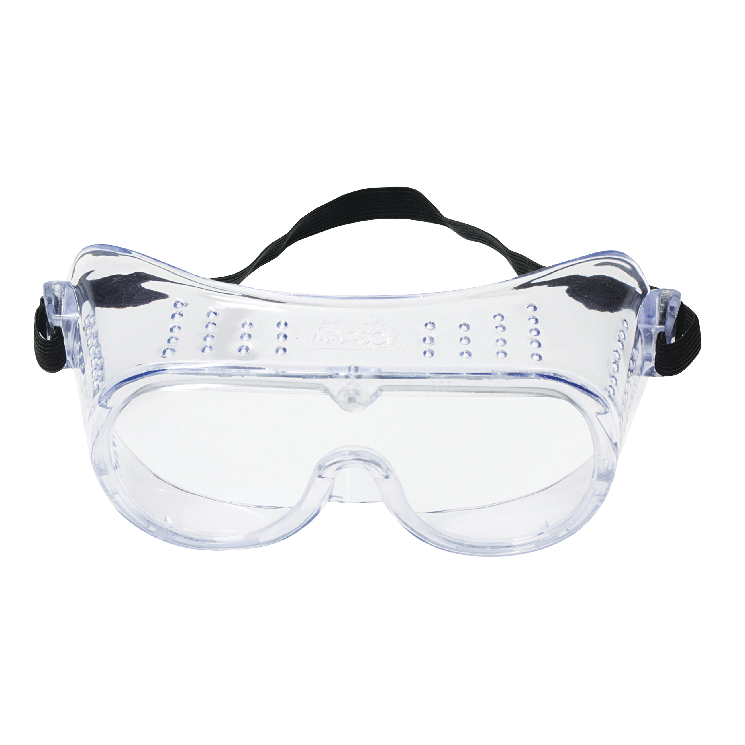 3M™ 078371-62137 Economy Safety Goggles, Anti-Fog/Impact-Resistant/UV-Protective Clear Polycarbonate Lens, 99.9 % UV Protection, Elastic Strap, ANSI Z87.1-2015