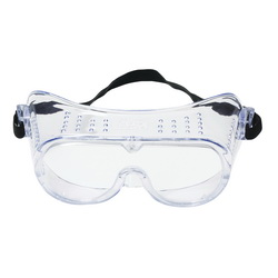 3M™ 078371-62137 Economy Safety Goggles, Anti-Fog/Impact Resistant/UV-Protective Clear Polycarbonate Lens, 99.9 % UV Protection, Elastic Strap, ANSI Z87.1-2015