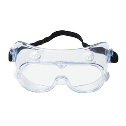 3M™ 078371-62139 Economy Indirect Vent Standard Safety Goggles, Uncoated Clear Polycarbonate Lens, 99.9 % UV Protection, Elastic Strap, ANSI Z87.1-2003