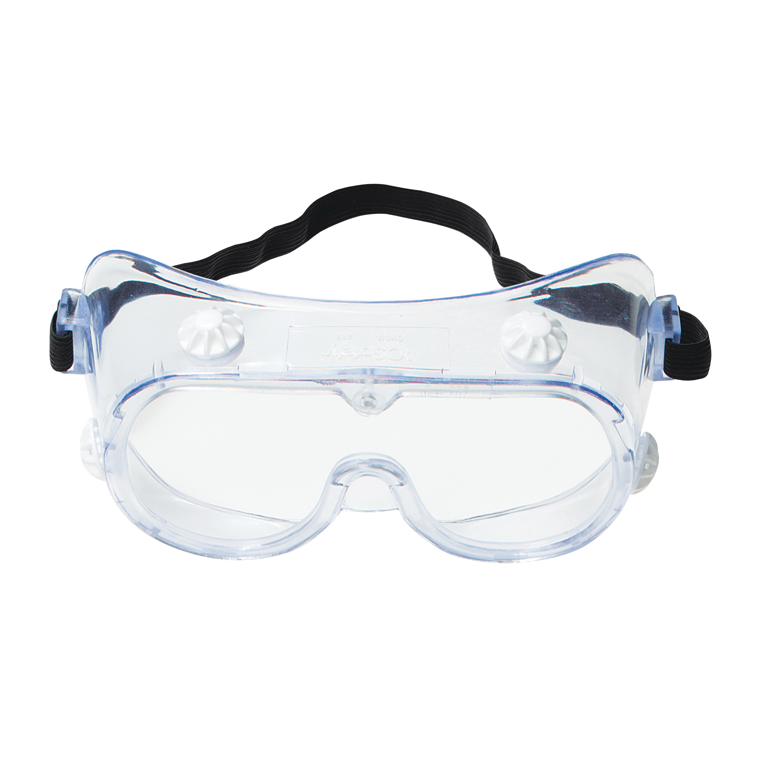 3M™ 078371-62139 40660-00000-10 Economy Indirect Vent Standard Safety Goggles, Uncoated Clear Polycarbonate Lens, 99.9% % UV Protection, Elastic Strap, Specifications Met: ANSI Z87.1-2003