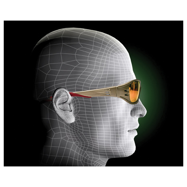 3M™ Fuel™ 078371-62147 Premium Protective Eyewear, Anti-Scratch, Red Mirror Lens, Full Framed Frame, Metallic Sand, Tough Nylon Frame, Polycarbonate Lens, ANSI Z87.1-2015