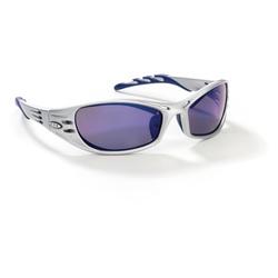 3M™ Fuel™ 078371-62148 Premium Protective Eyewear, Anti-Scratch, Blue Mirror Lens, Full Framed Frame, Silver, Plastic Frame, Polycarbonate Lens, ANSI Z87.1-2015