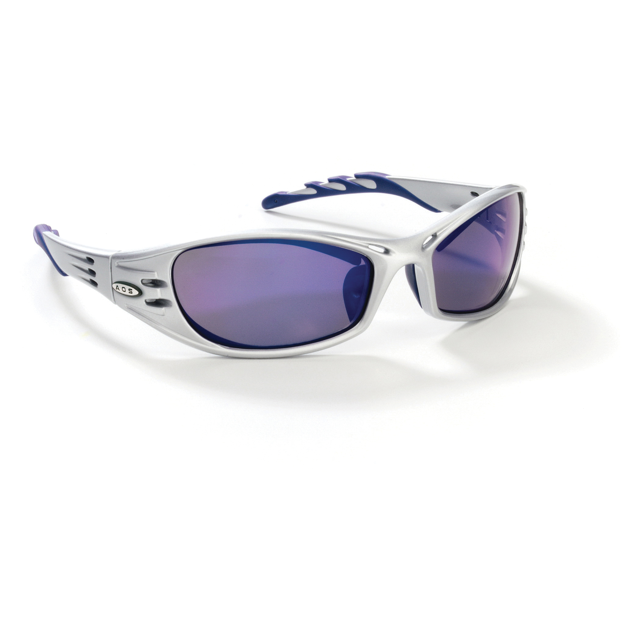 3M™ Fuel™ 078371-62148 11641-00000-10 Premium Protective Eyewear, Anti-Scratch Blue Mirror Lens, Full Framed Silver Plastic Frame, Polycarbonate Lens, Specifications Met: ANSI Z87.1-2015