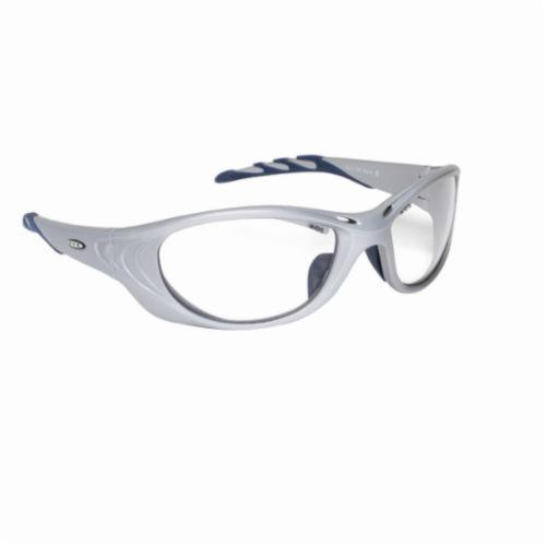 3M™ Fuel™ 078371-62156 2 Series Protective Glasses, Scratch Resistant Clear Lens, Full Framed/Wraparound Silver Nylon Frame, Polycarbonate Lens, Specifications Met: ANSI Z87.1, CSA Z94.3