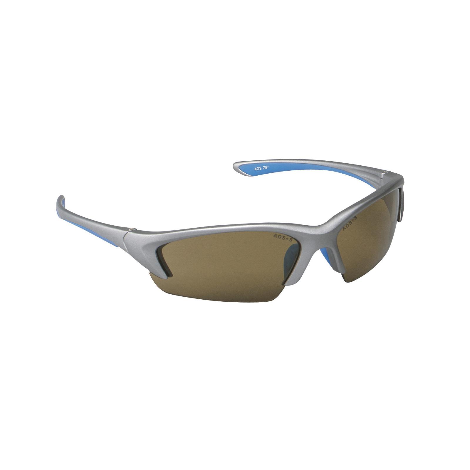 3M™ Nitrous™ 078371-62160 11712-00000-20 Value Range Protective Eyewear, Anti-Fog Bronze Lens, Half Framed Silver Plastic Frame, Polycarbonate Lens, Specifications Met: ANSI Z87.1-2015