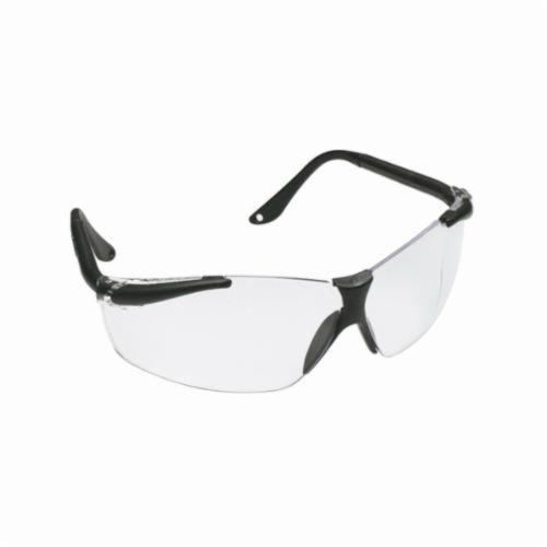 3M™ SX™ 078371-62219 Economy Protective Eyewear, Anti-Fog Clear Lens, Half Framed Black Plastic Frame, Polycarbonate Lens, Specifications Met: ANSI Z87.1-2003, CSA Z94.3-2007