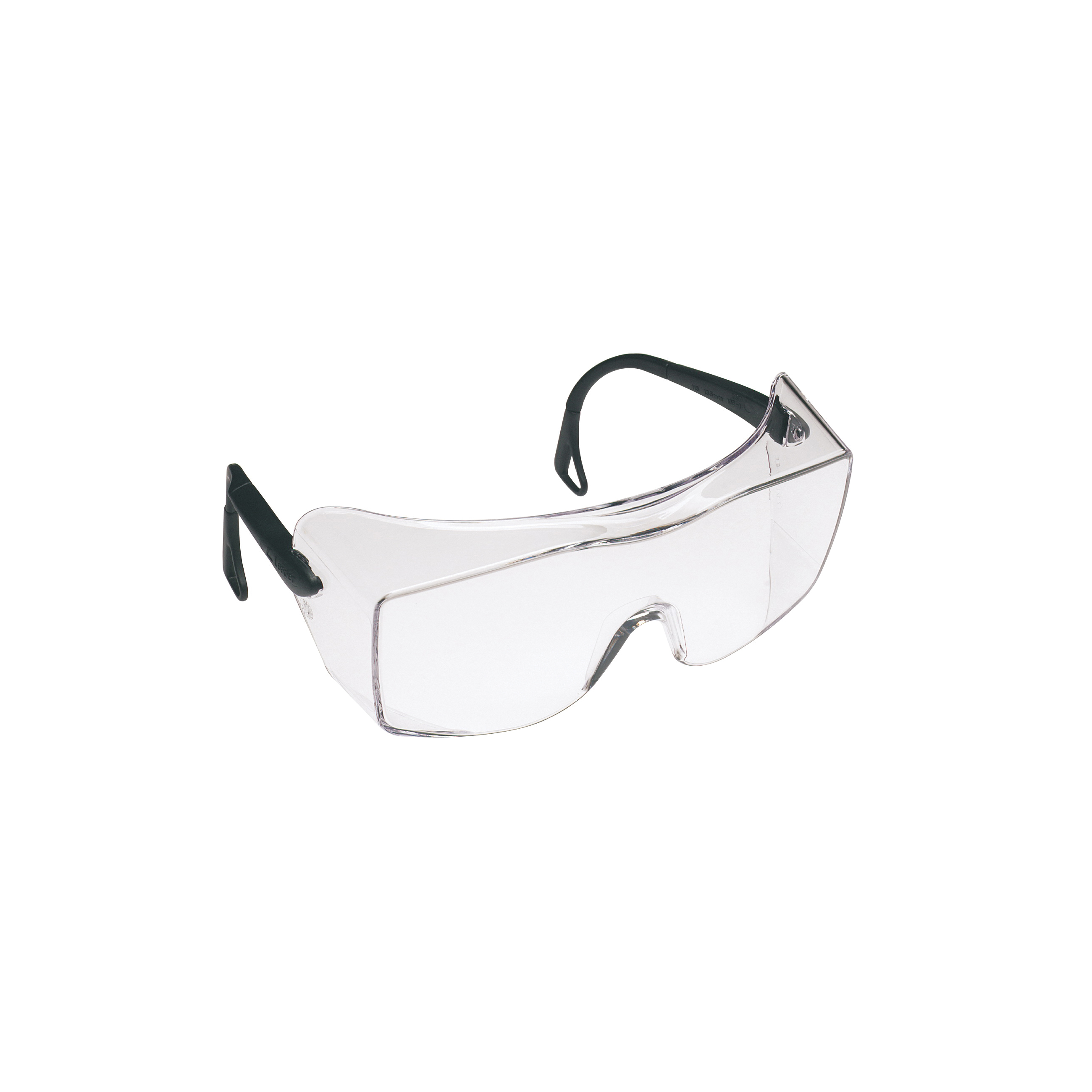 3M™ QX™ 078371-62226 12166-00000-20 Lightweight Safety Glasses, DX™ Anti-Fog/Anti-Scratch Clear Lens, Frameless Black Plastic Frame, Polycarbonate Lens, Specifications Met: ANSI Z87.1-2015, CSA Z94.3