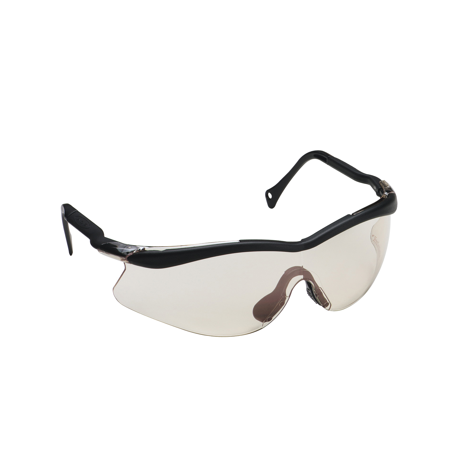 3M™ QX™ 078371-62227 12180-10000-20 Lightweight Safety Glasses, Anti-Scratch MinimIzeR™ Lens, Half Framed Black Plastic Frame, Polycarbonate Lens, Specifications Met: ANSI Z87.1-2015