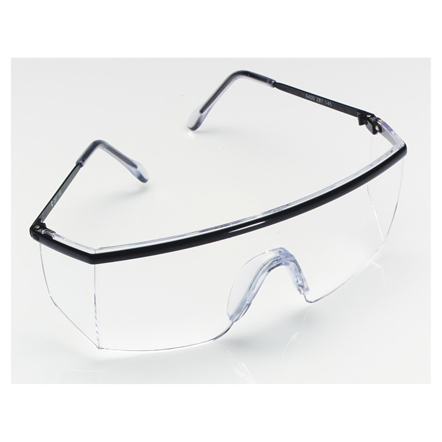 3M™ Nassau Plus™ 078371-62262 Lightweight Safety Glasses, DX™ Anti-Fog, Clear Lens, Half Framed Frame, Black, Plastic Frame, Polycarbonate Lens, ANSI Z87.1-2003, CSA Z94.3-2007