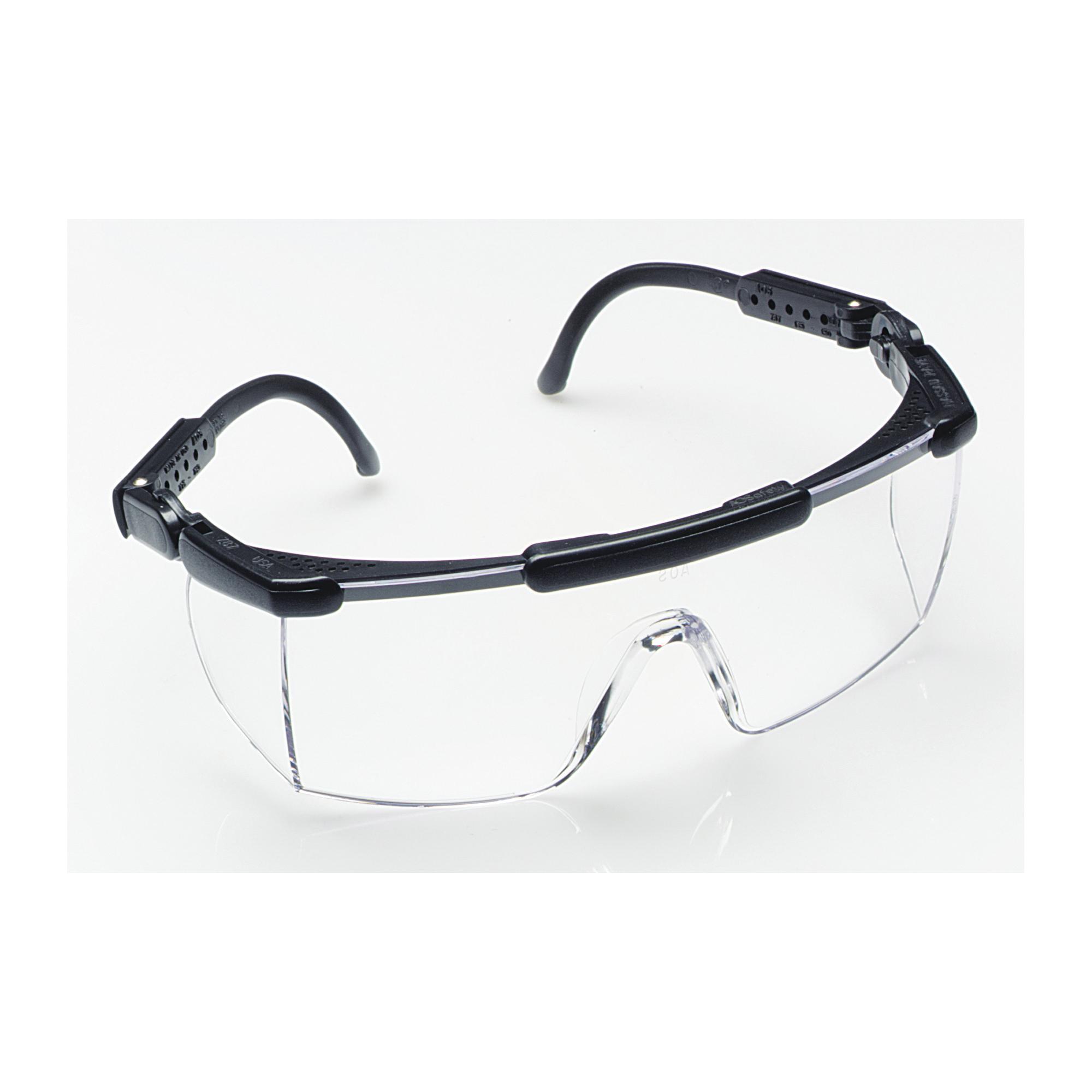 3M™ Nassau Rave™ 078371-62271 Lightweight Protective Eyewear, DX™ Anti-Fog/Anti-Scratch, Clear Lens, Half Framed Frame, Black, Plastic Frame, Polycarbonate Lens, ANSI Z87.1-2003, Z87.1-2015, CSA Z94.3-2007