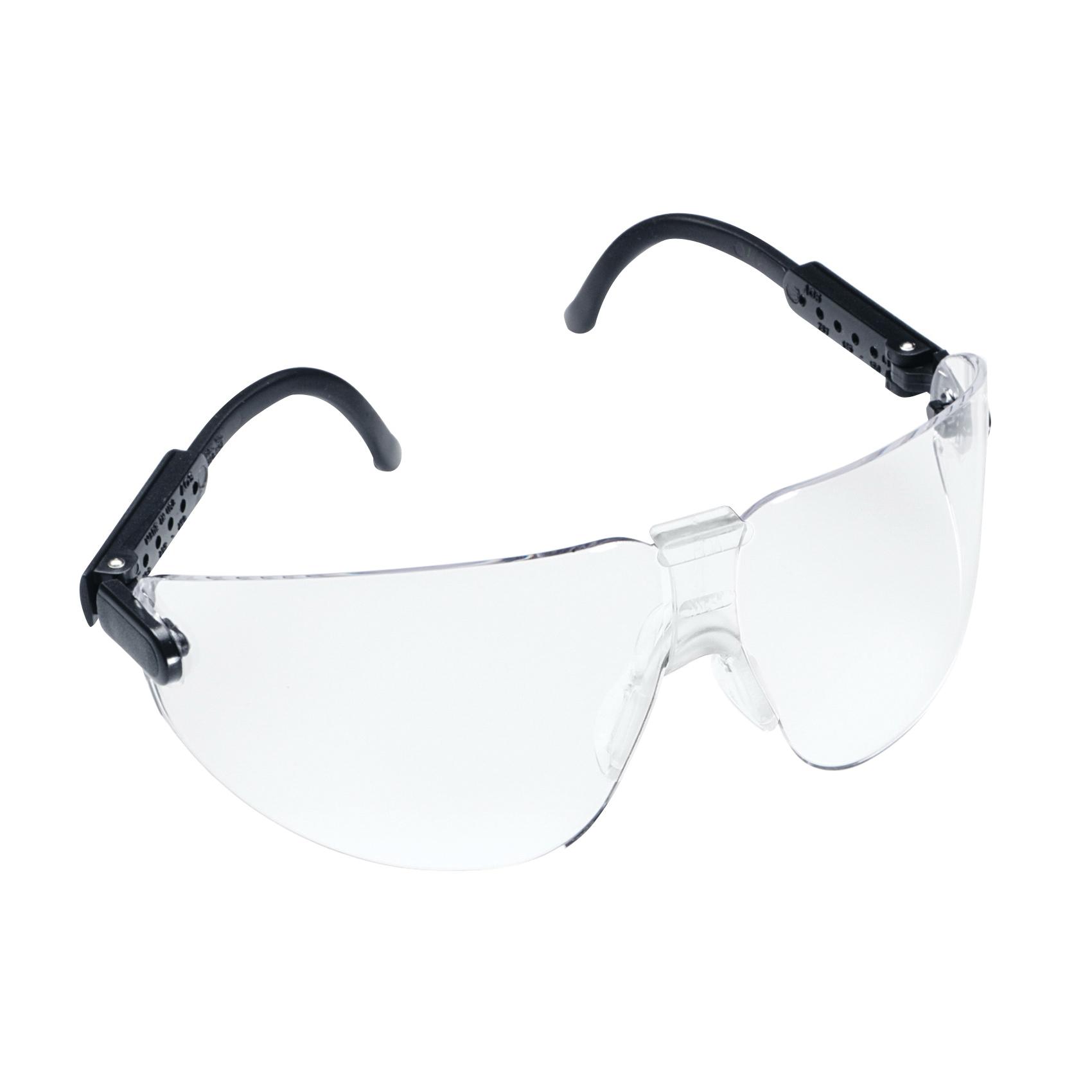 3M™ Lexa™ Fighter 078371-62282 Protective Glasses, DX™ Anti-Fog Clear Lens, Frameless Black Plastic Frame, Polycarbonate Lens, Specifications Met: ANSI Z87.1, CSA Z94.3