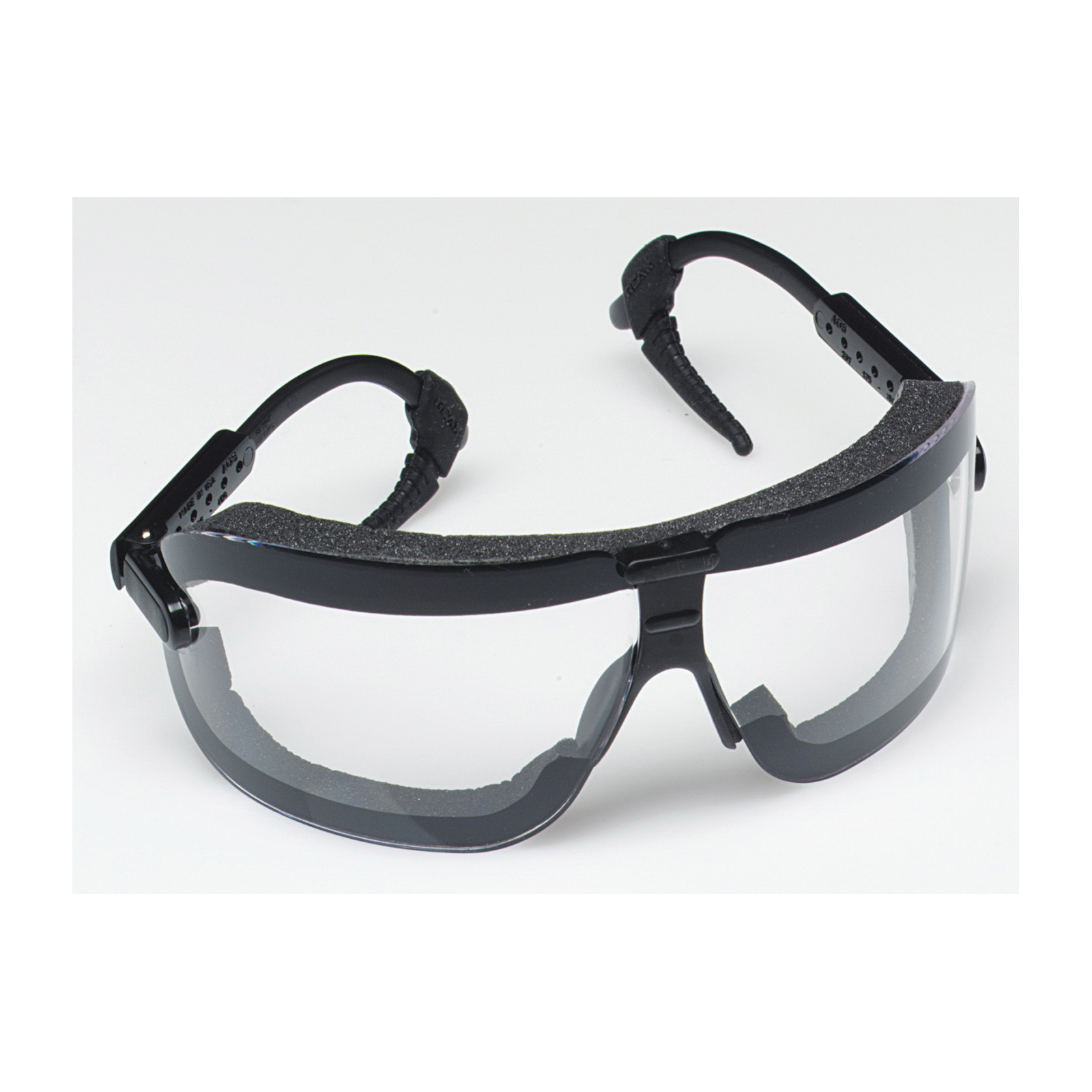 3M™ Fectoggles™ 078371-62325 Protective Safety Goggles With Black Temple, Anti-Fog/Anti-Scratch Clear Polycarbonate Lens, 99.9 % UV Protection, Elastic Strap, ANSI Z87.1-2010, CSA Z94.3-2007